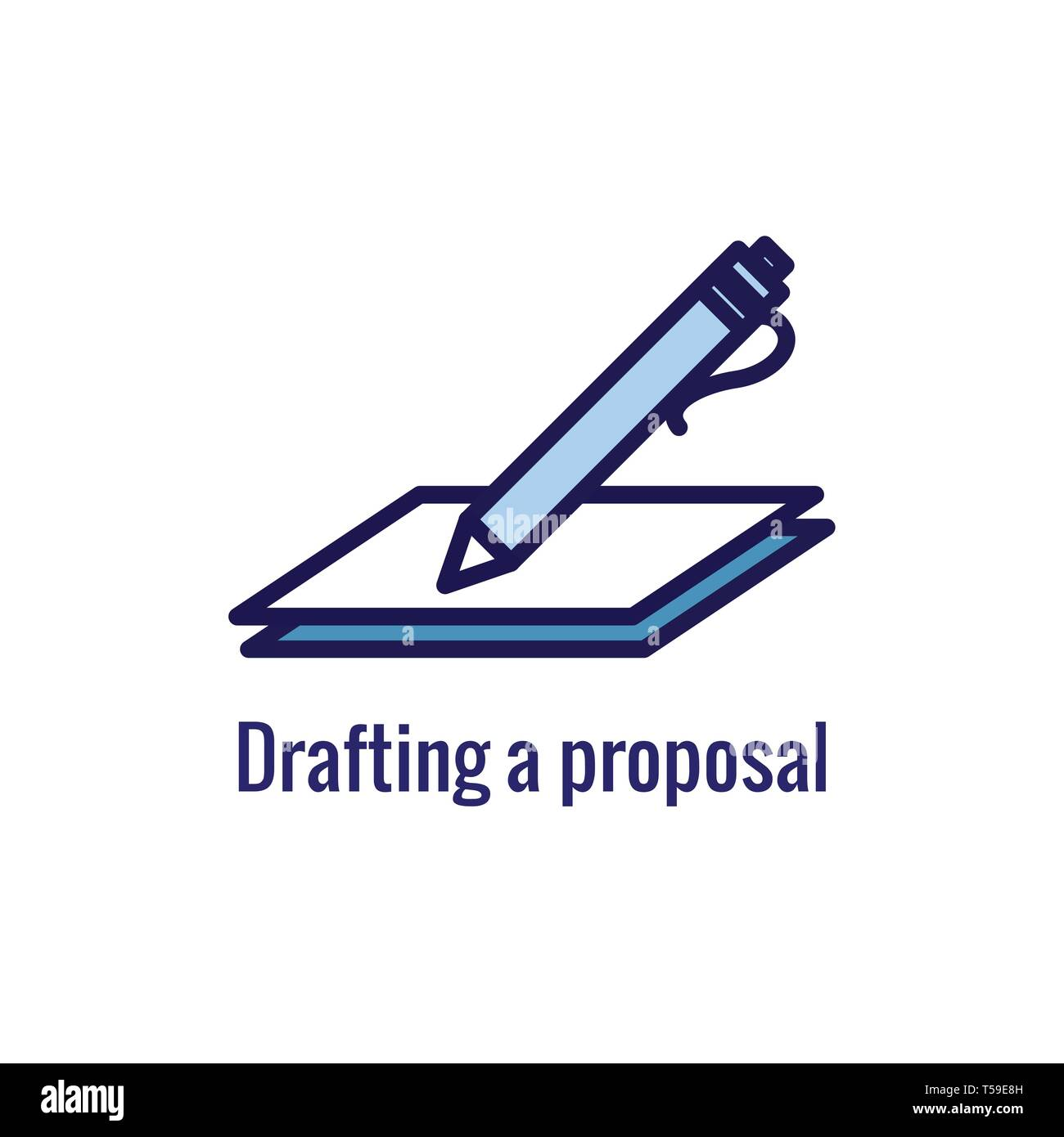 New Business Process Icon | Proposal Draft phase - Stock Vector