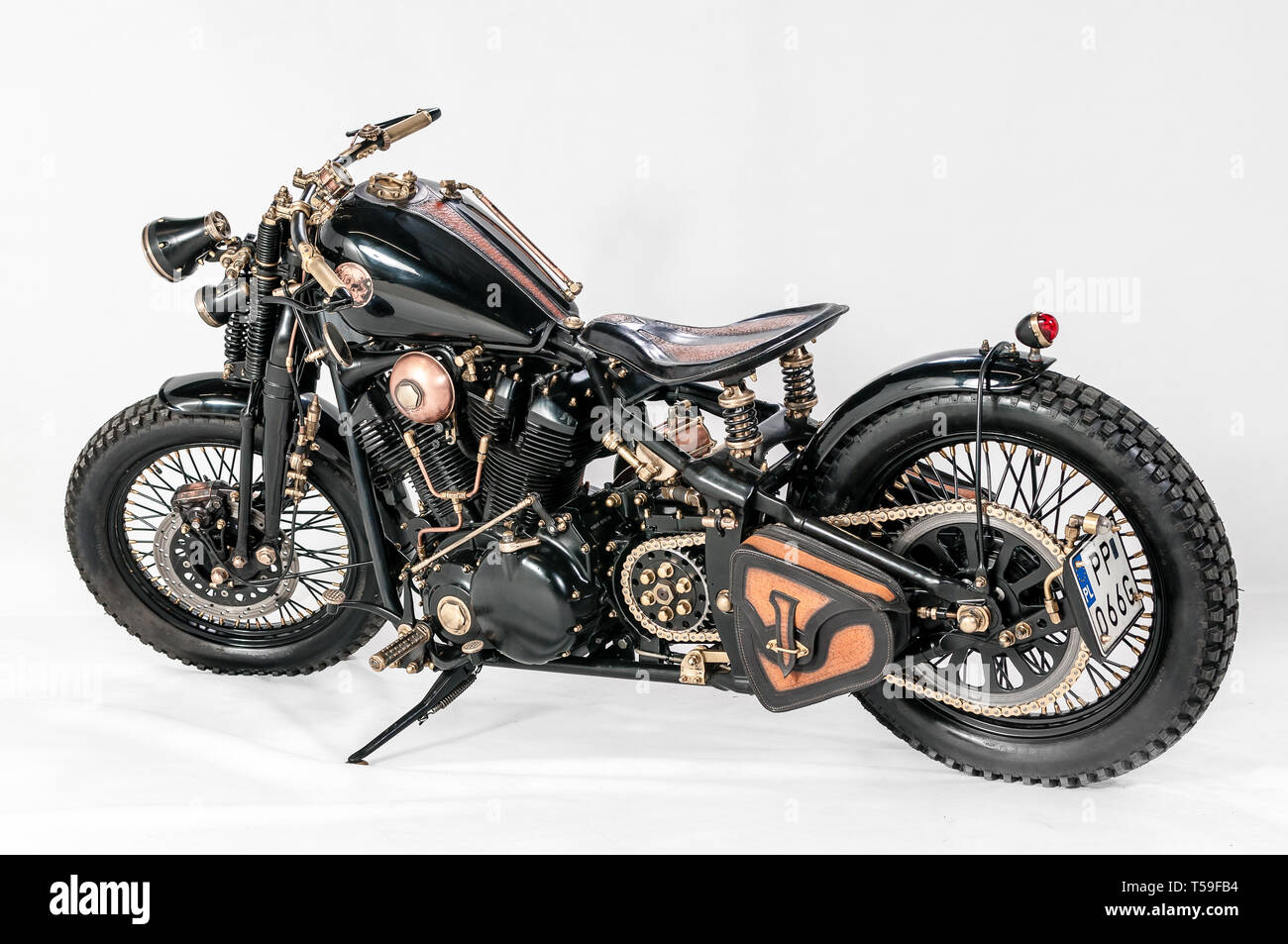Warsaw Poland March 01 2019 Warsaw Custom Motorcycles Show Presentation Of Custom Designed In Motorcycles Cathegory Old School Stock Photo Alamy