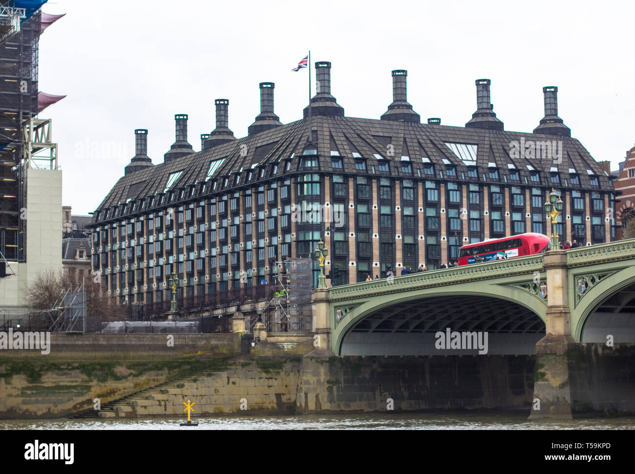London, Great Britain. April 12, 2019. Portcullis House. 1 Parliament St, Westminster Bridge Road. - Stock Image