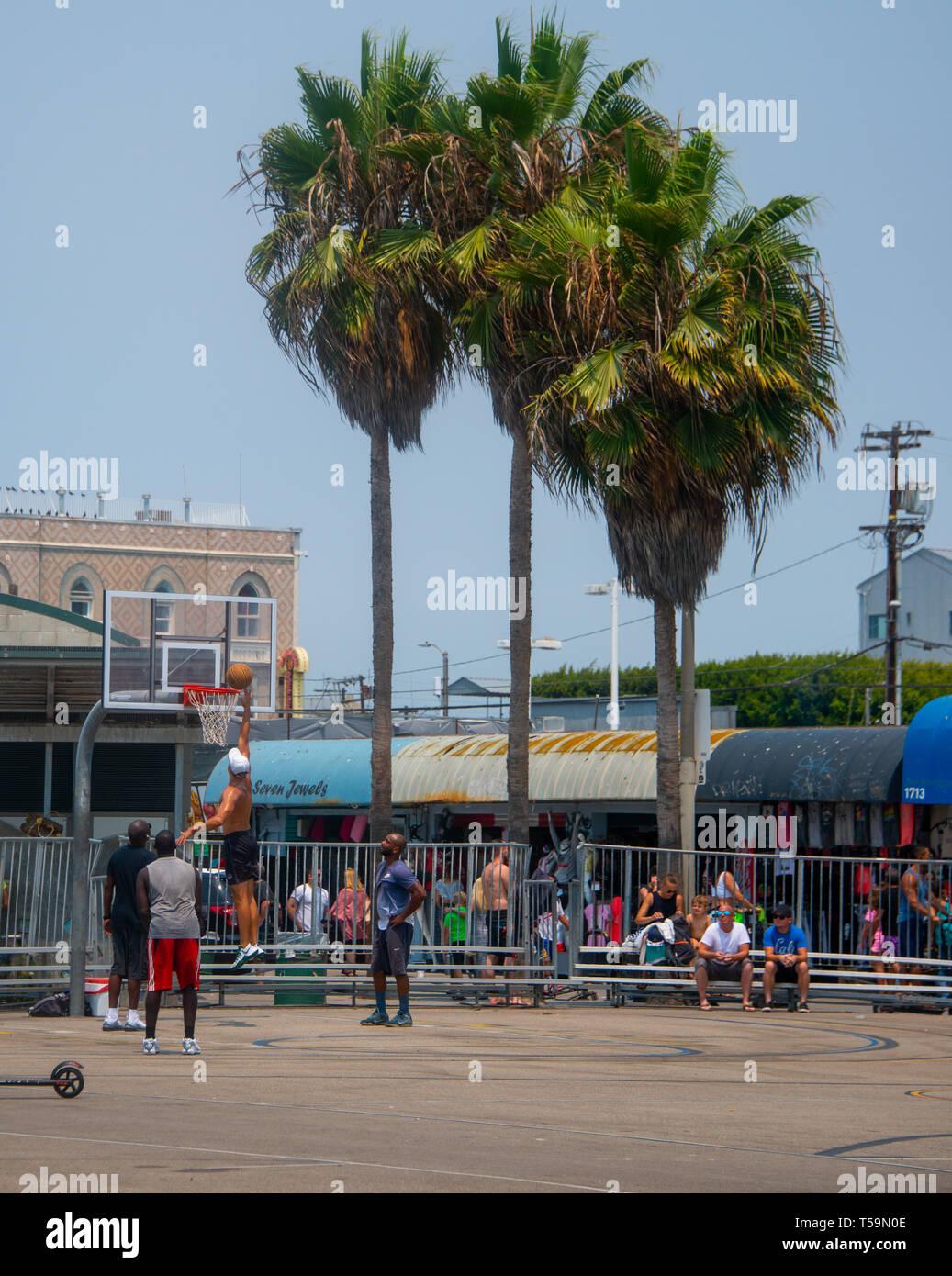 Basketball at Venice Beach - Stock Image