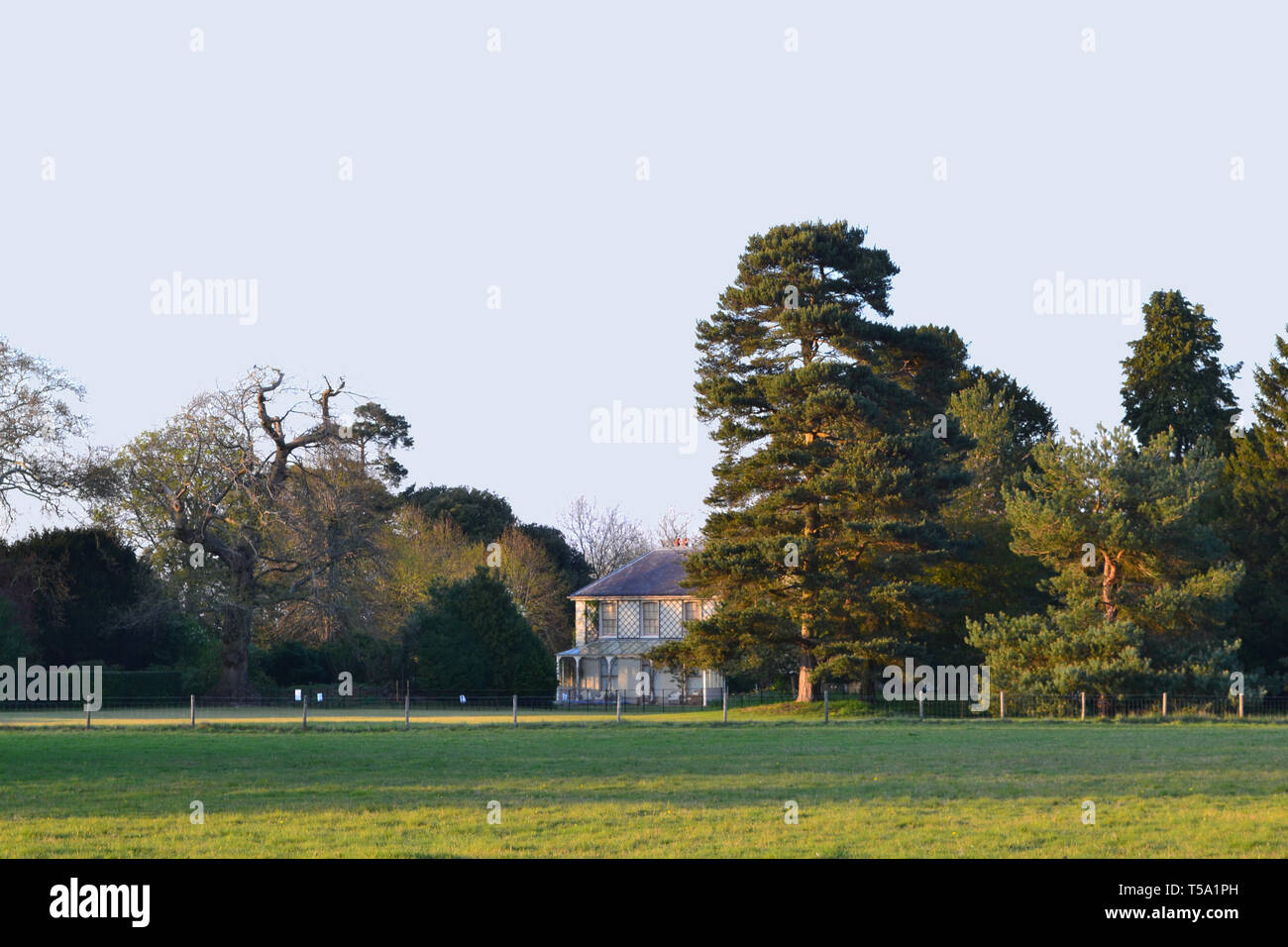Rear of Down House, where scientist Charles Darwin and family lived in the 19th century. Now an English Heritage property. At Downe, Bromley, Kent. - Stock Image