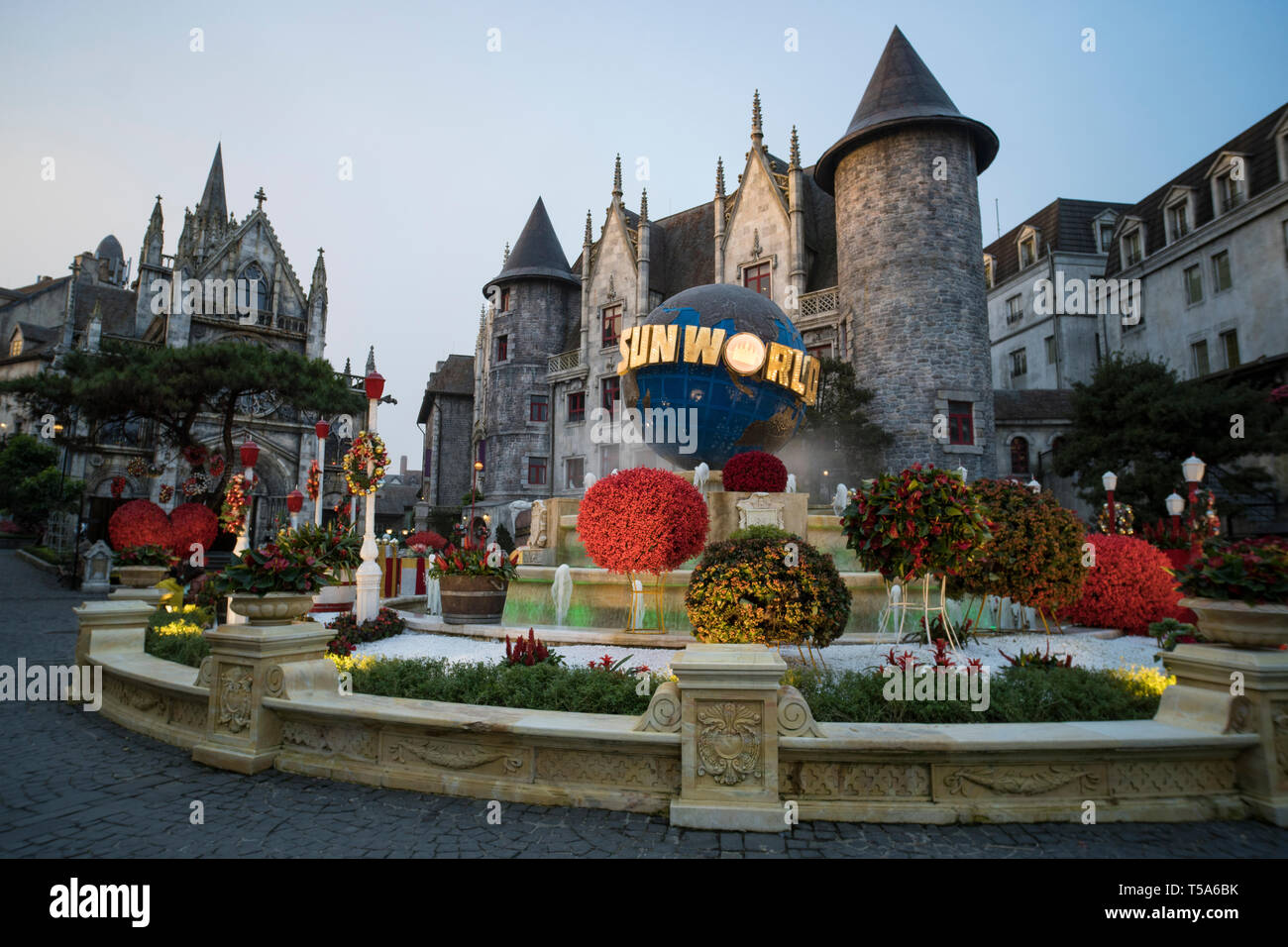 Tourists Is Traveling At French Village On Ba Na Hills In Danang Vietnam Stock Photo Alamy