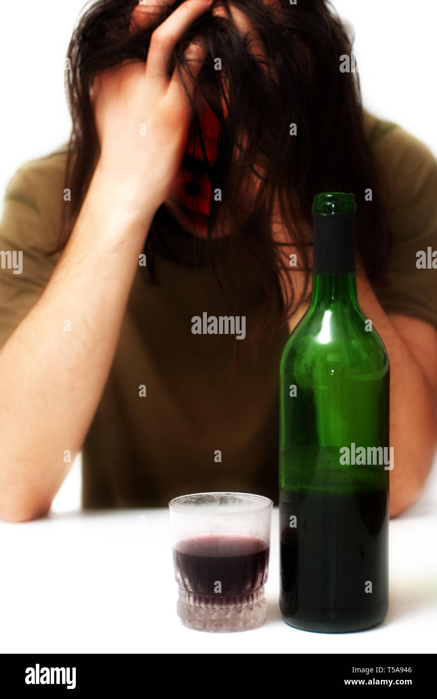 Alcoholism and Depression - Stock Image