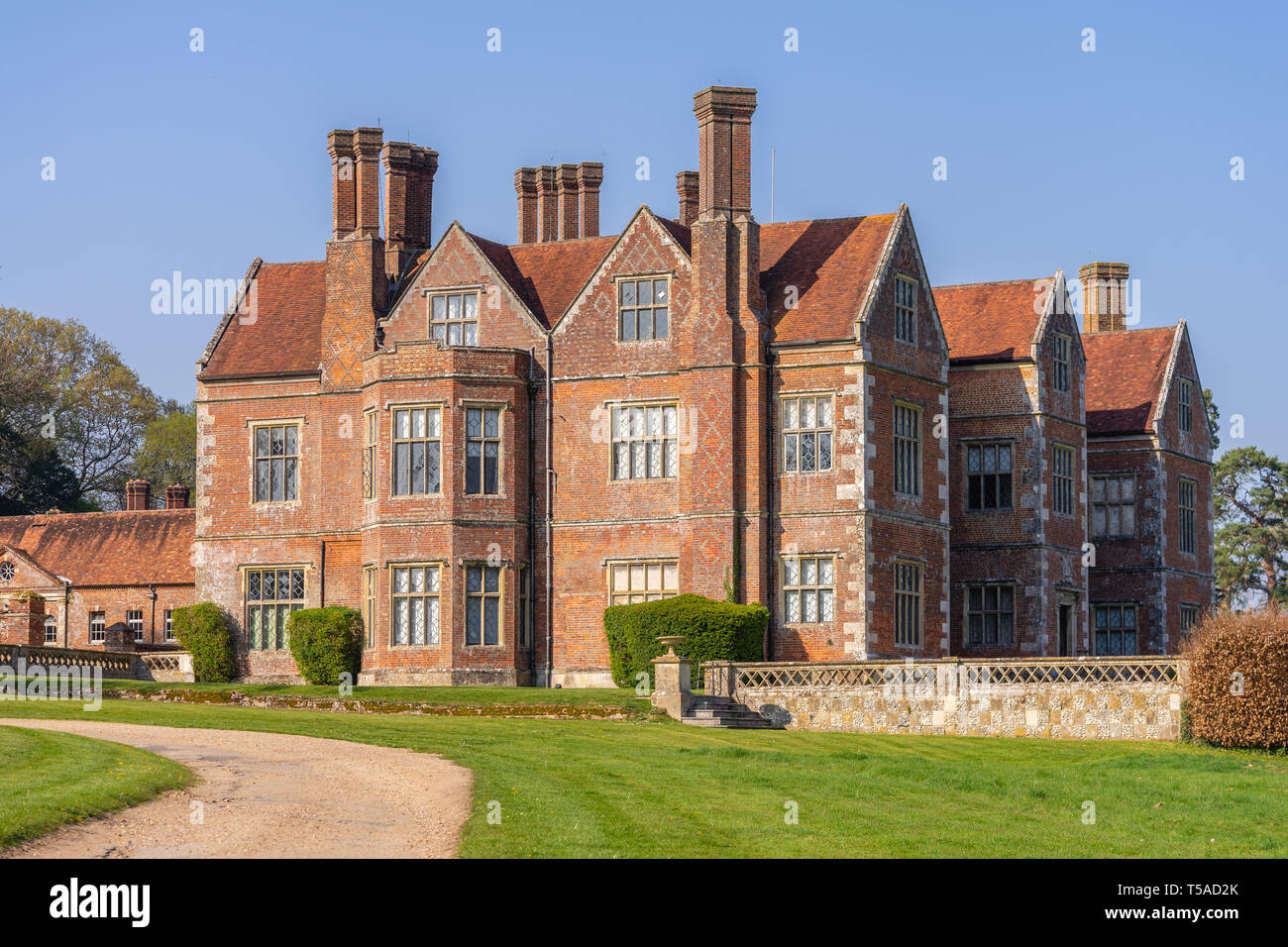Breamore House, an Elizabethan manor house built in the 16th century located in the Hampshire countryside, Hampshire, England, UK Stock Photo