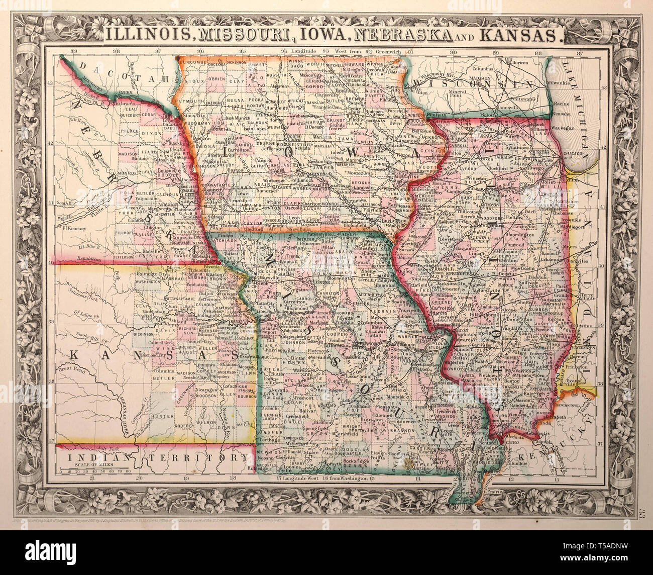 Vintage Illinois Maps Stock Photos & Vintage Illinois Maps ... on
