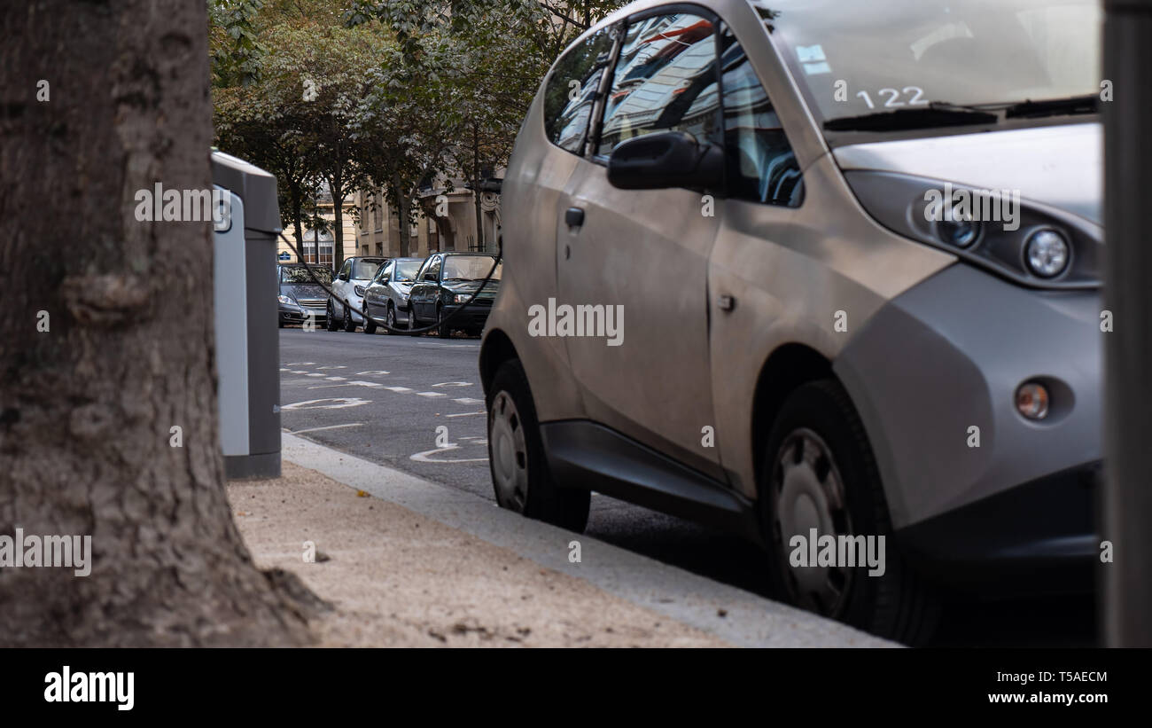 Charging an electrocar - Stock Image
