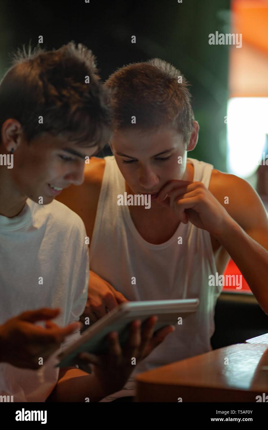 Teenagers in their habitat - Stock Image