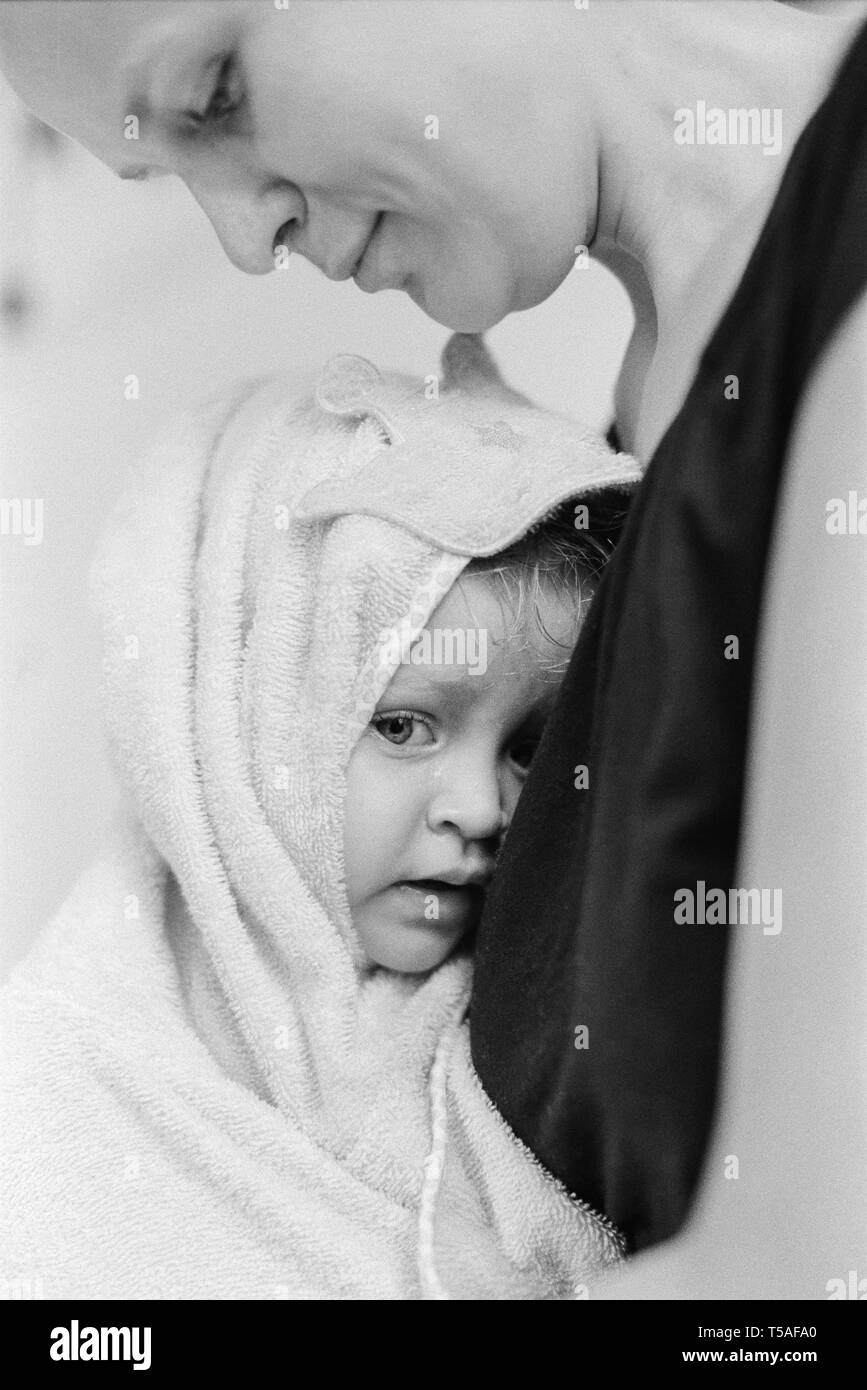 A baby after bath - Stock Image