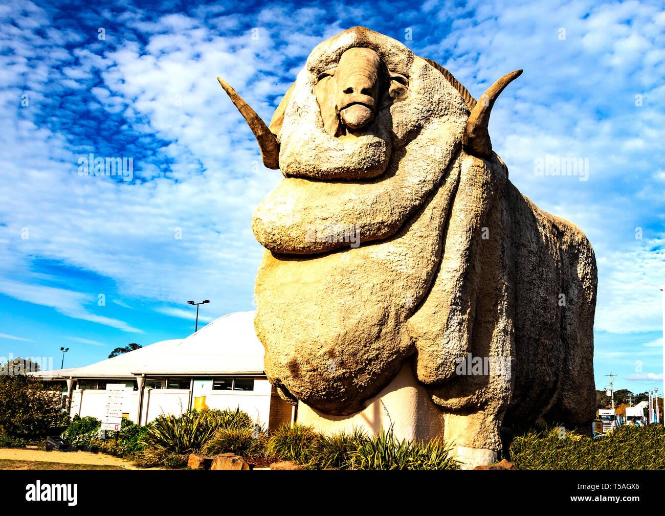 Big Merino statue in Goulburn, New South Wales, Australia - Stock Image
