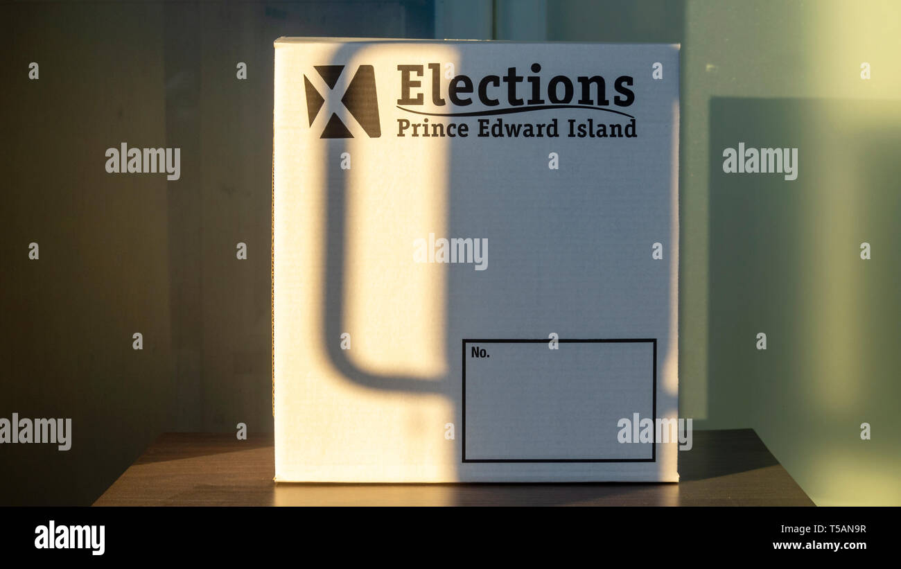 Elections PEI poll 2019 in Charlottetown, Canada - Stock Image