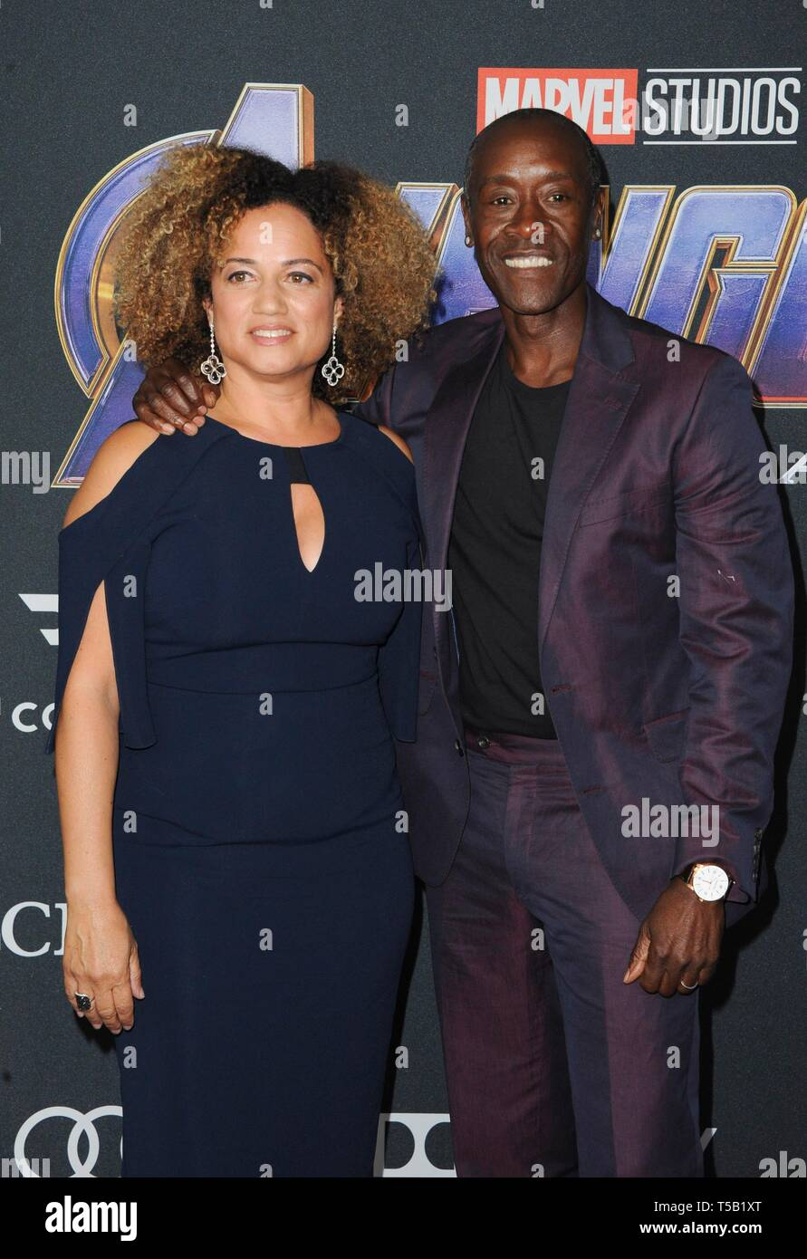 Los Angeles Ca Usa 22nd Apr 2019 Bridgid Coulter Don Cheadle