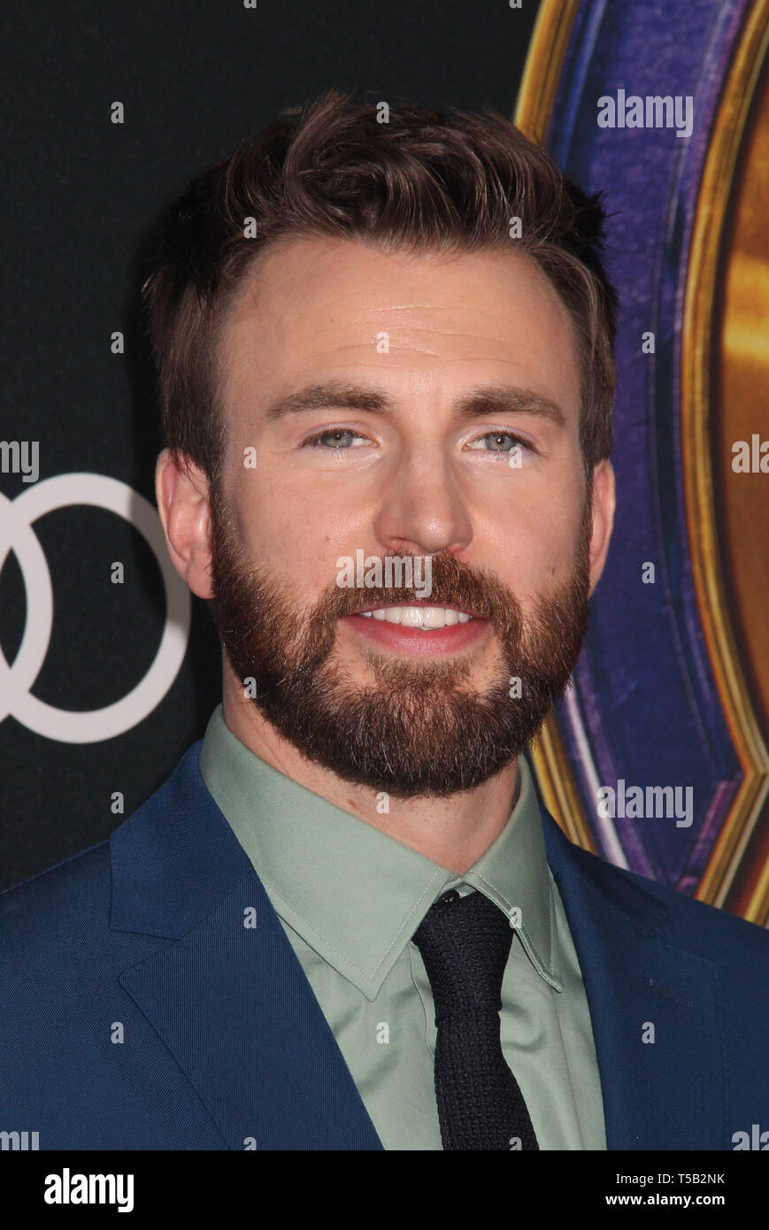 "Los Angeles, USA. 22nd Apr 2019. Chris Evans  04/22/2019 The world premiere of Marvel Studios'""Avengers: Endgame"" held at The Los Angeles Convention Center in Los Angeles, CA Photo by Izumi Hasegawa / HollywoodNewsWire.co Credit: Hollywood News Wire Inc./Alamy Live News Stock Photo"