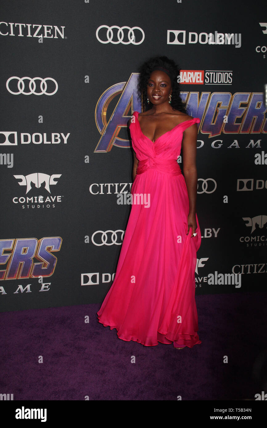 Los Angeles Usa 22nd Apr 2019 Danai Gurira 04 22 2019 The World Premiere Of Marvel Studios Avengers Endgame Held At The Los Angeles Convention Center In Los Angeles Ca Photo By Izumi Hasegawa
