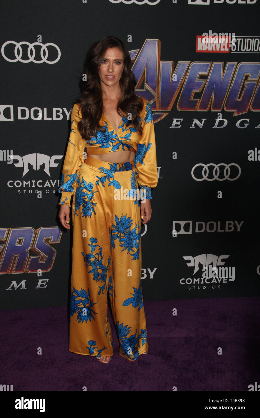 Los Angeles Usa 22nd Apr 2019 Natasha Halevi 04 22 2019 The World Premiere Of Marvel Studios Avengers Endgame Held At The Los Angeles Convention Center In Los Angeles Ca Photo By Izumi Hasegawa Hollywoodnewswire Co Credit