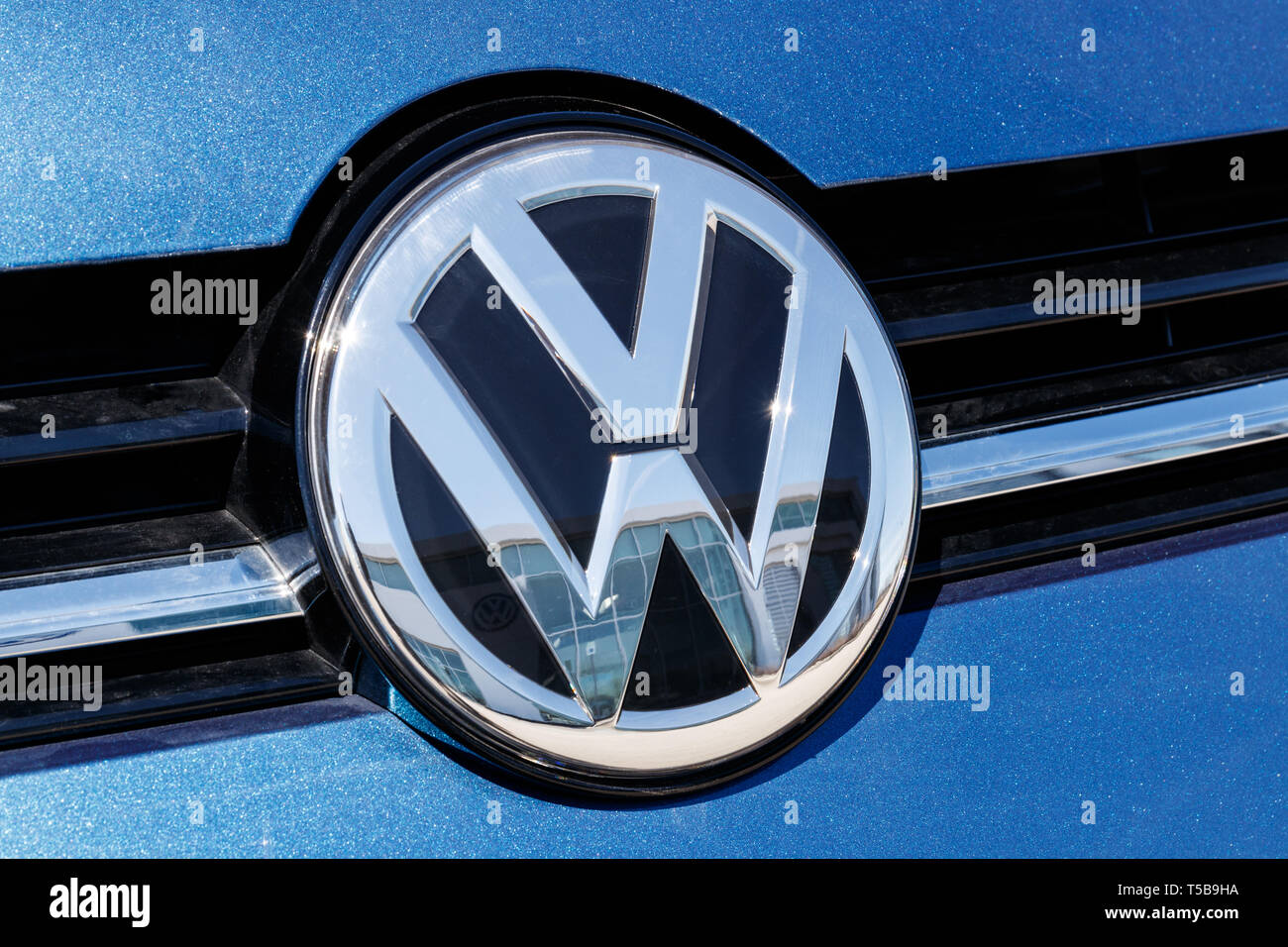 Noblesville - Circa April 2019: Volkswagen Cars and SUV Dealership. VW is Among the World's Largest Car Manufacturers III - Stock Image