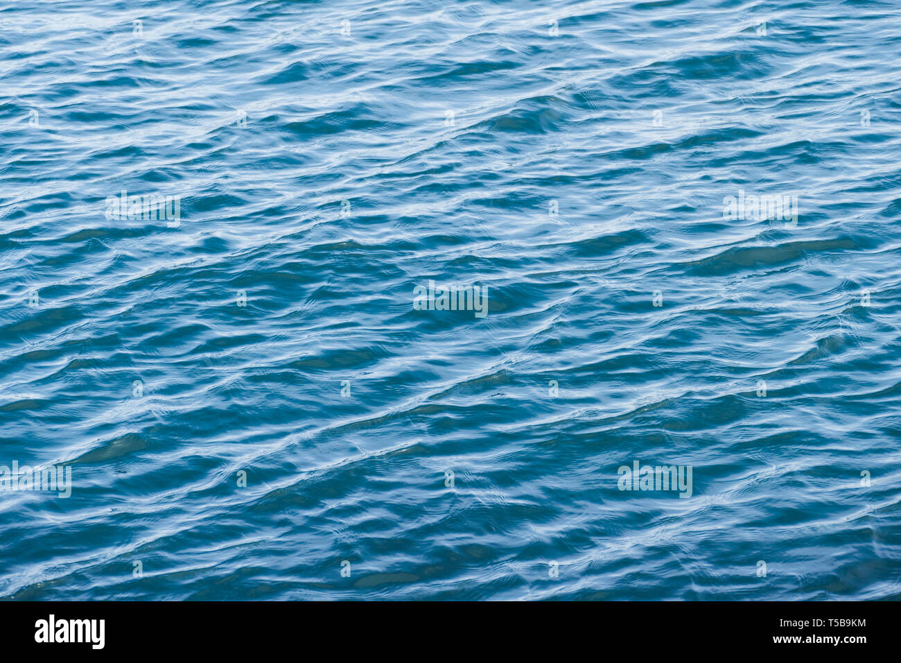 sea surface with daylight reflections making glitters and shadows Stock Photo