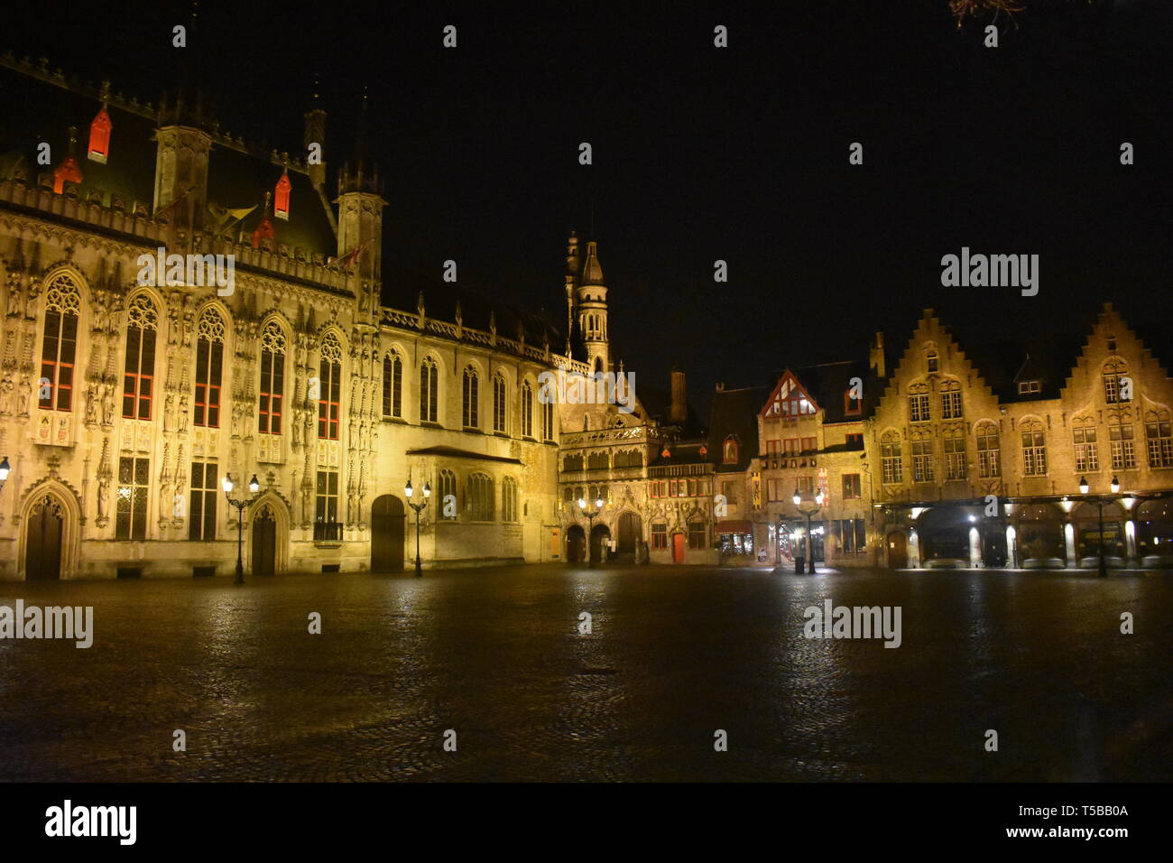 Brugges Bruges Belgium Canals Tower Chocolate Beer Waffles Historical Old City Citadel with Moat Travel Belgium Colin Ferrell In Bruges Top 10 Best 10 - Stock Image