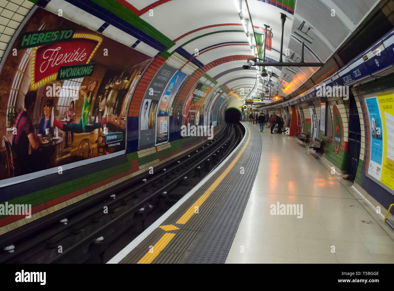 LONDON - JANUARY 26: The piccadilly tube station is one of the most famous london on january 24, 2016 in London, UK. - Stock Image