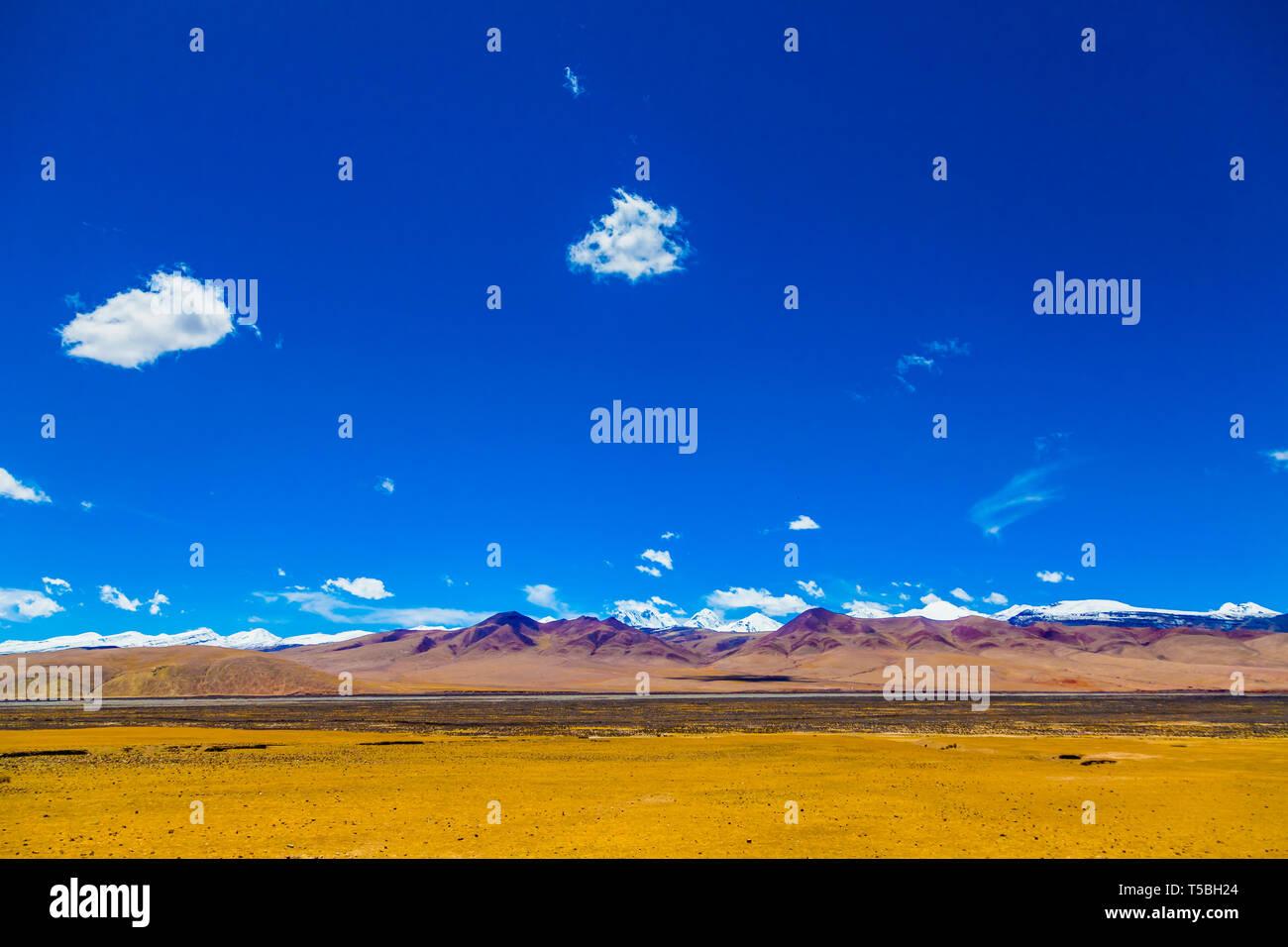 landscape of mountain on Qinghai Plateau,China.  Stock Photo