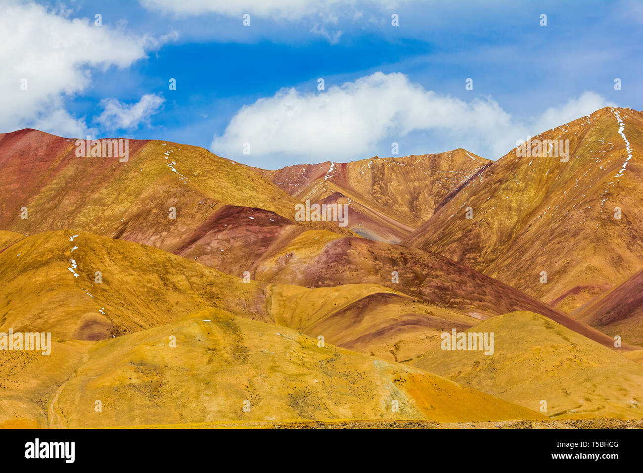 landscape of mountain on Qinghai Plateau,China.  - Stock Image