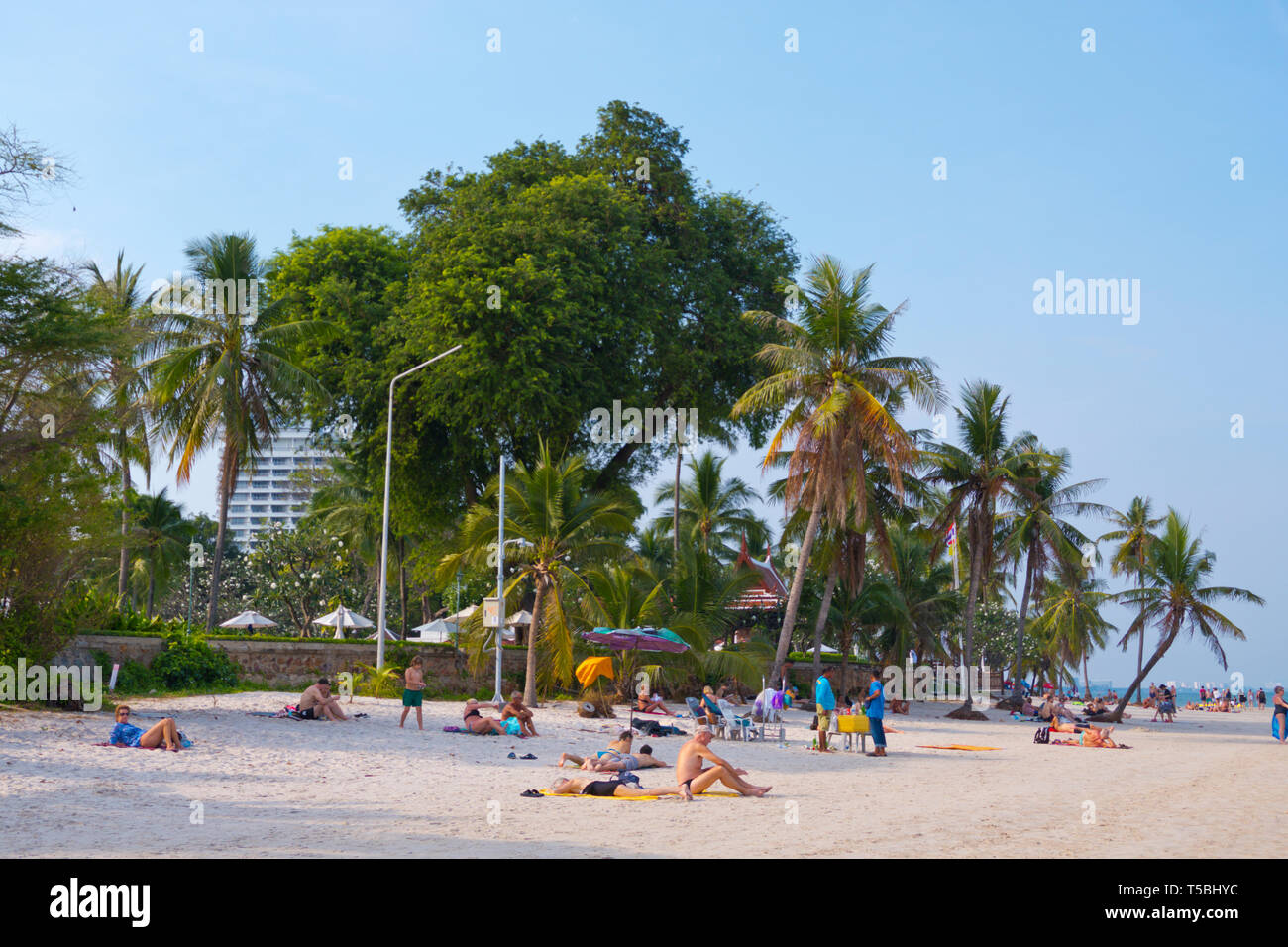 Beach, Hua Hin, Thailand Stock Photo