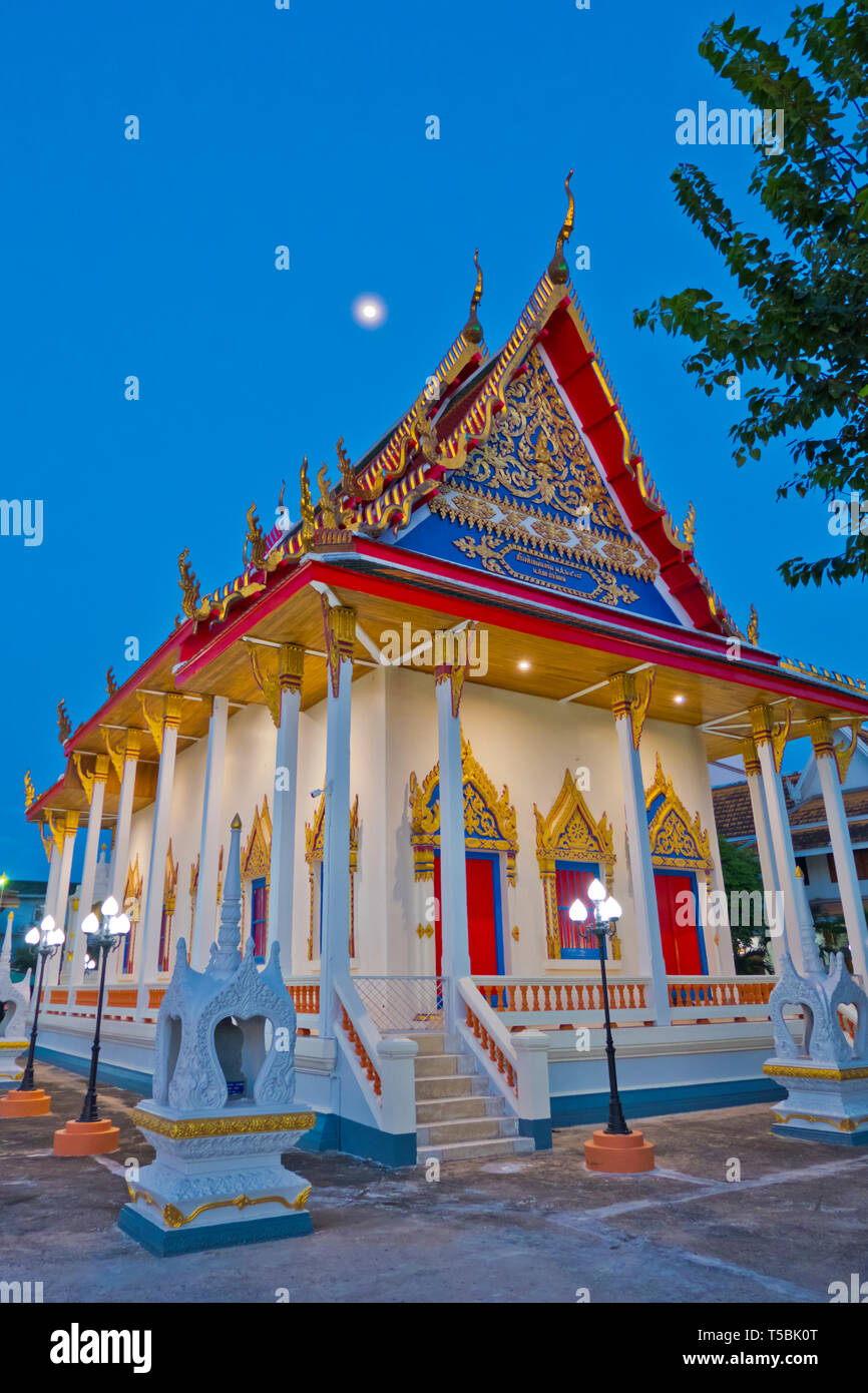 Pagoda, Wat Klang, Surat Thani, Thailand Stock Photo