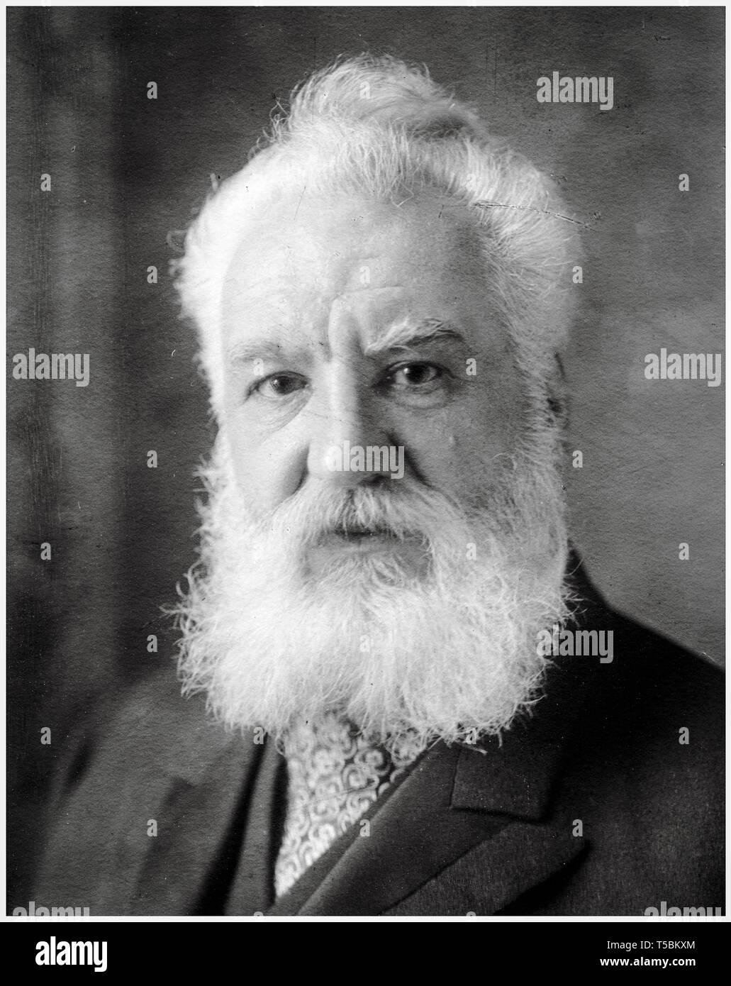 Alexander Graham Bell (1847-1922), portrait, c. 1850, Harris & Ewing Stock Photo