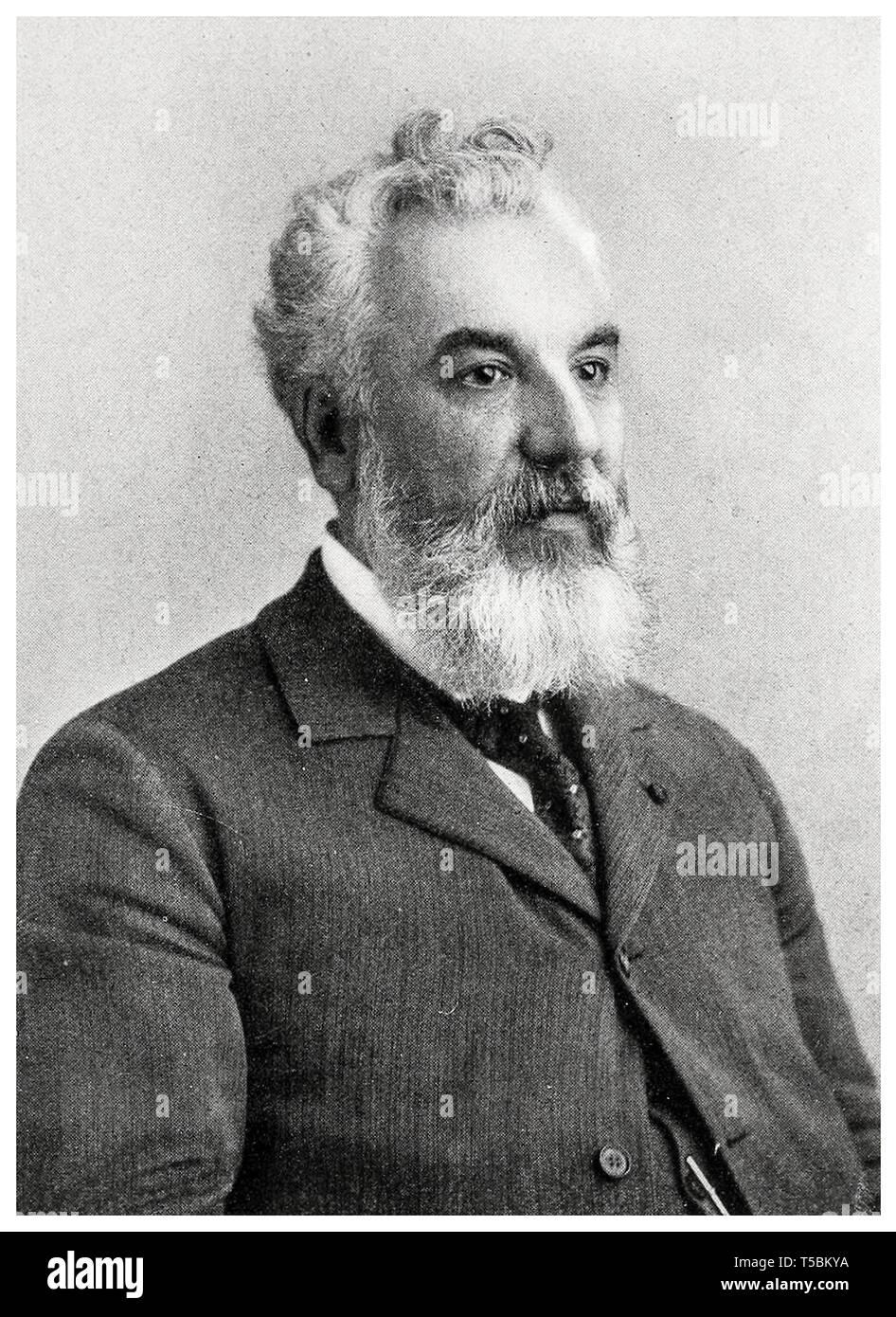 Alexander Graham Bell (1847-1922), portrait, c. 1905 Stock Photo