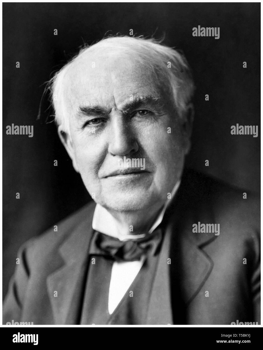 Thomas Edison (1847-1931), portrait, c. 1922 Stock Photo