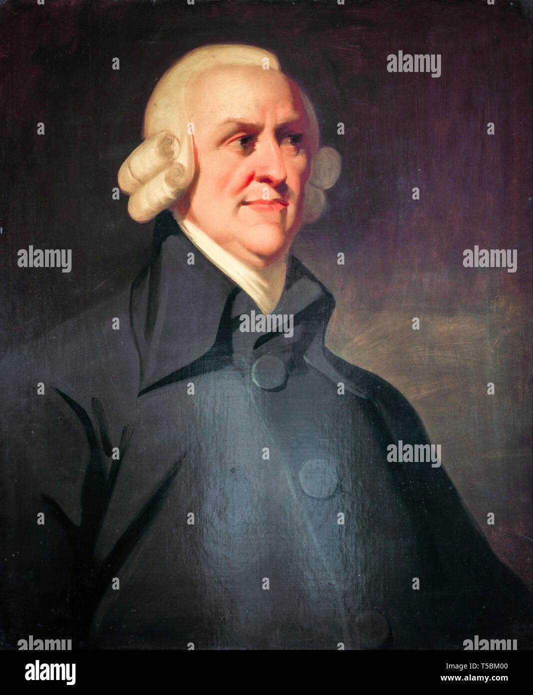Adam Smith (1723-1790), portrait painting, The Muir portrait, c. 1800 Stock Photo
