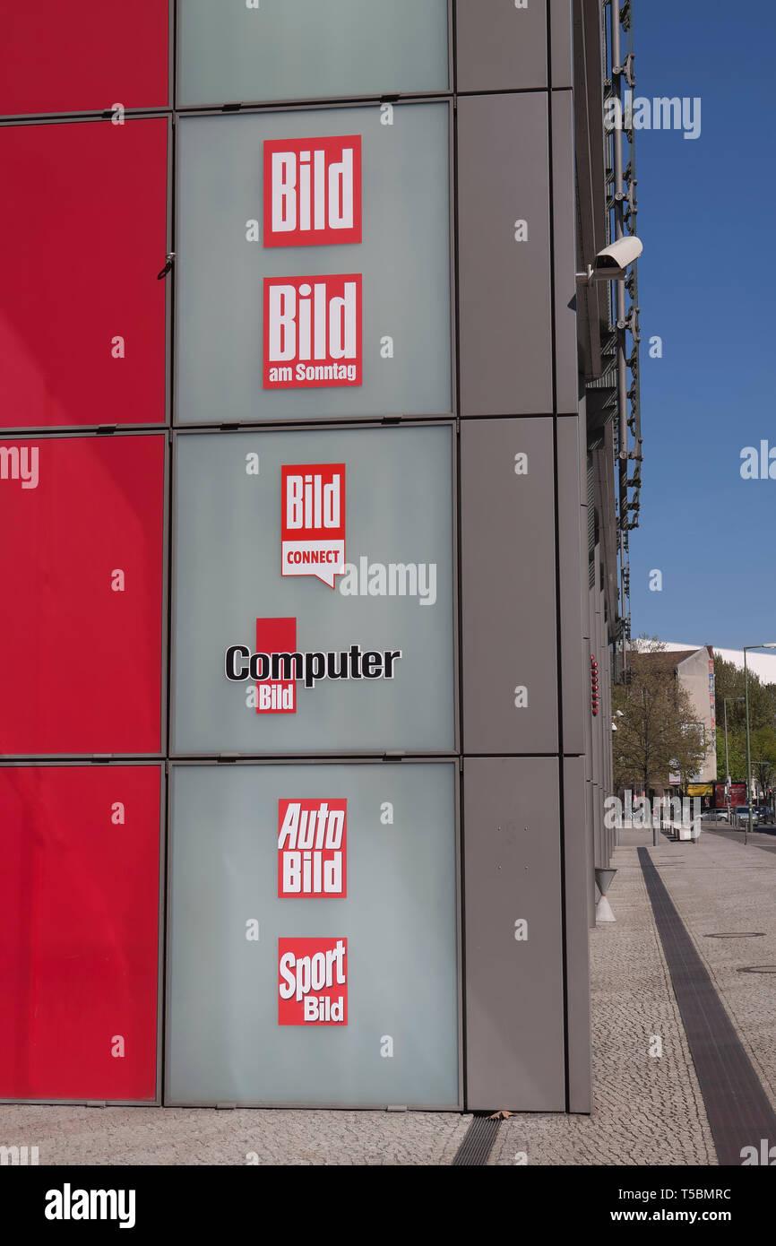 Daily newspaper Bild, Bild am Sonntag, Sport Bild, Computer Bild in Berlin - Stock Image