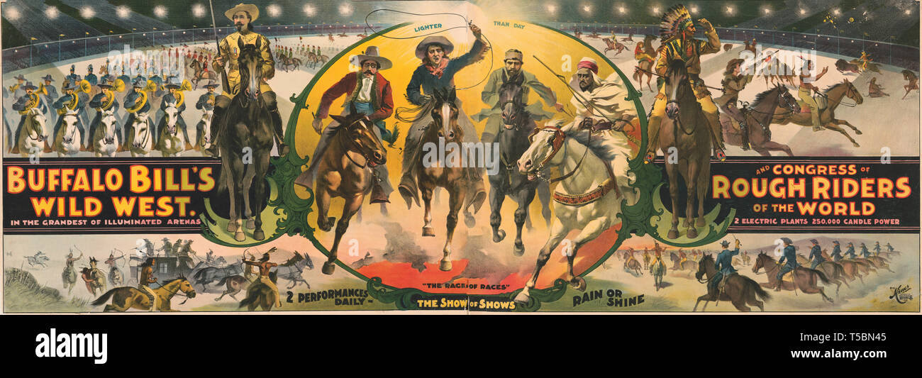 Cheap Sale Buffalo Bills Wild West Pioneer Exhibition Print Poster Union Pacific Entertainment Memorabilia