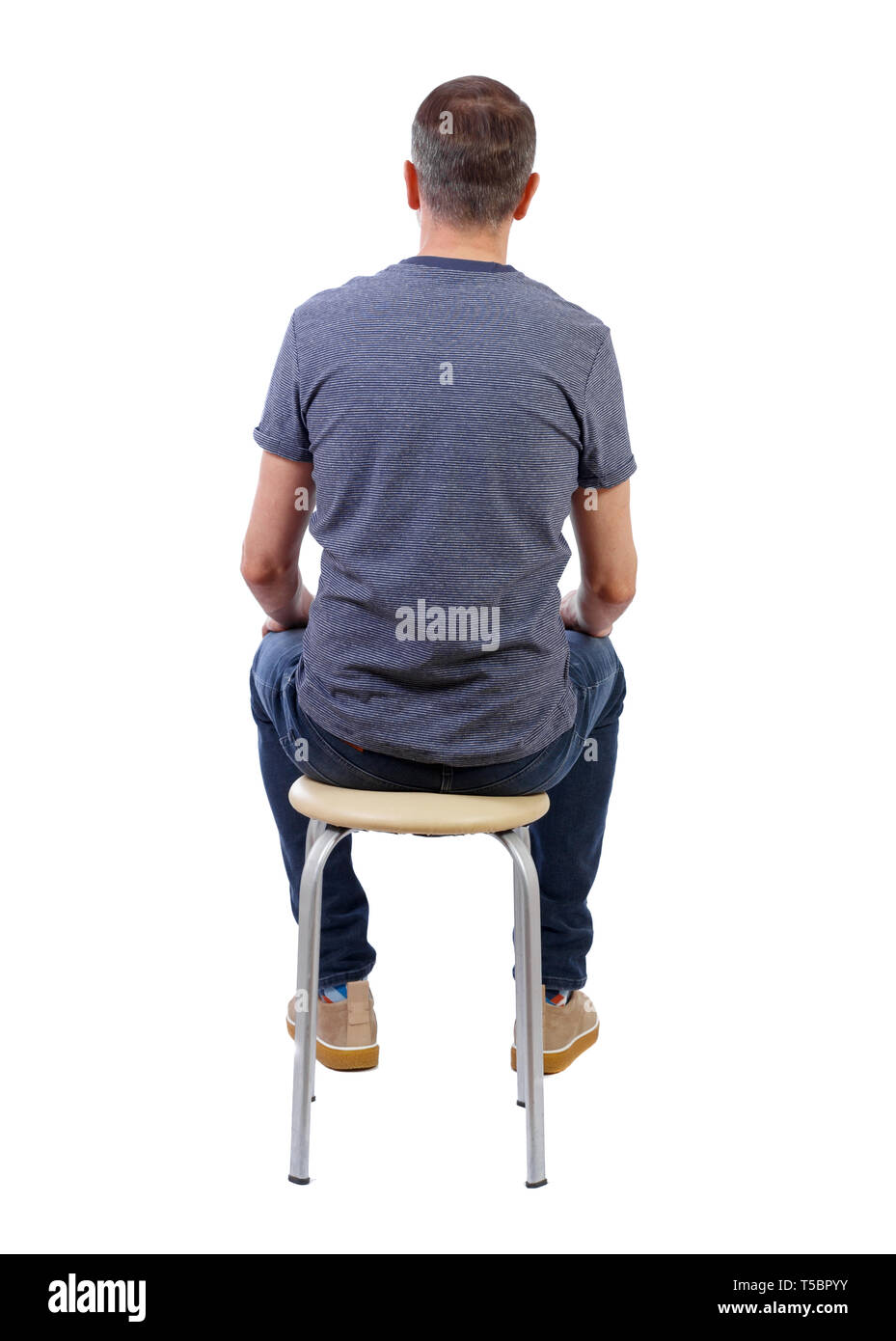 Wondrous Back View Of A Man Sitting On A Chair Rear View People Uwap Interior Chair Design Uwaporg