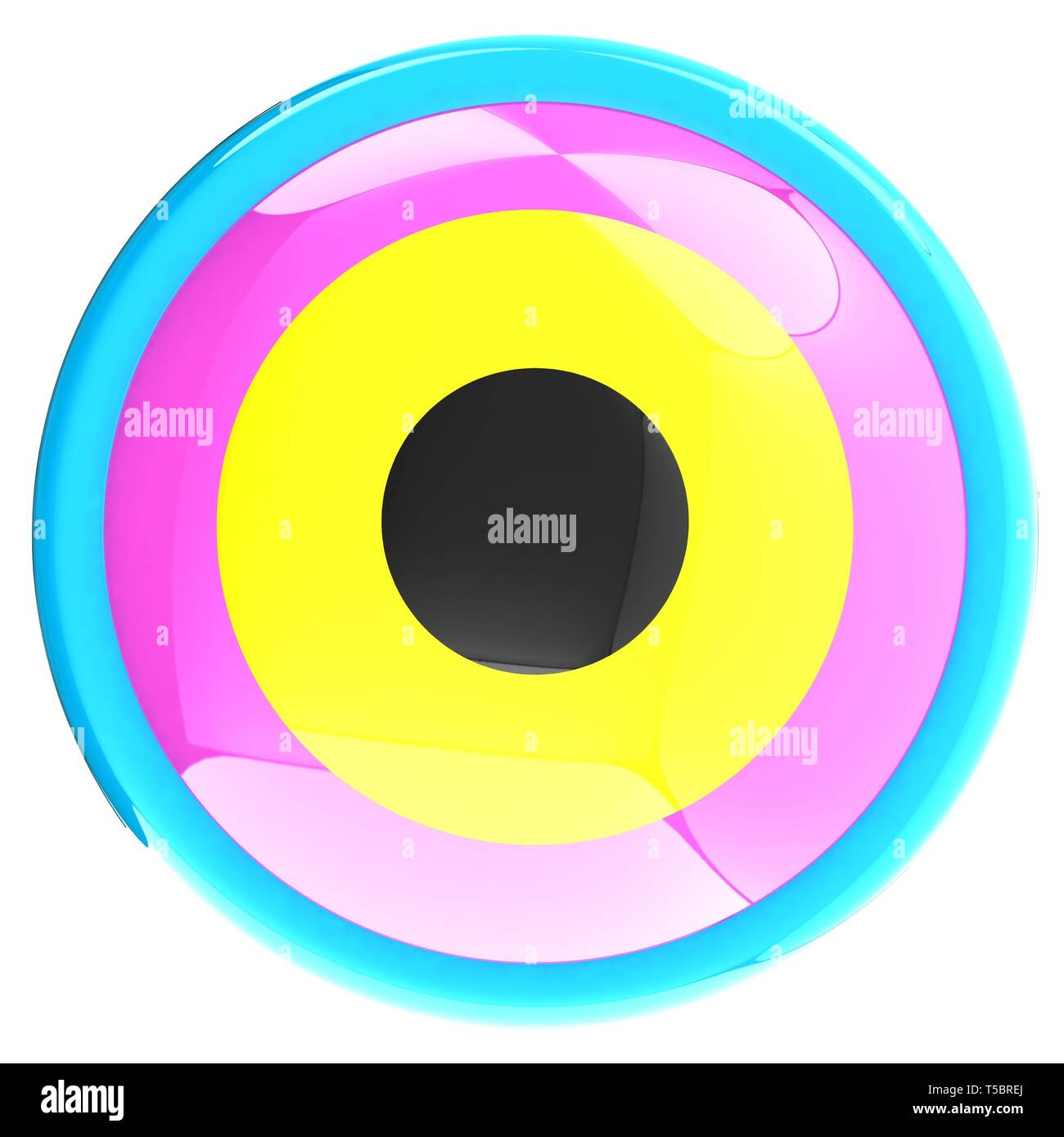 Colorfull button - Stock Image