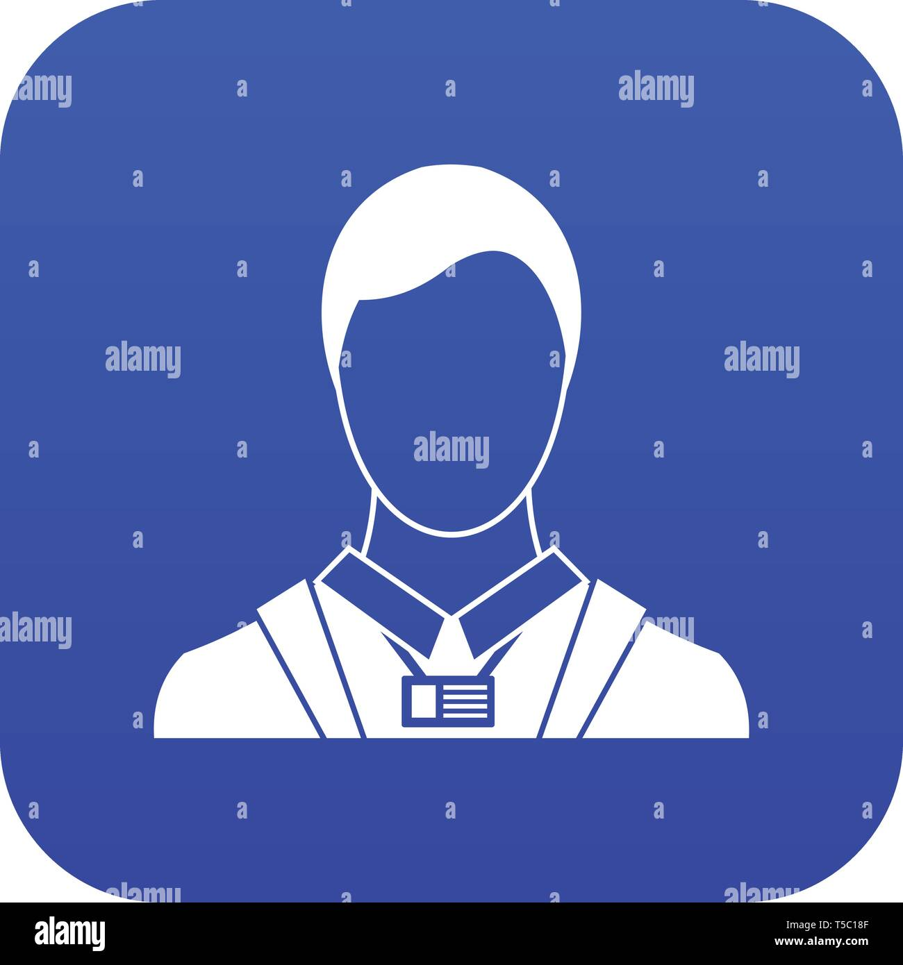businessman with identity name card icon digital blue stock vector image art alamy alamy