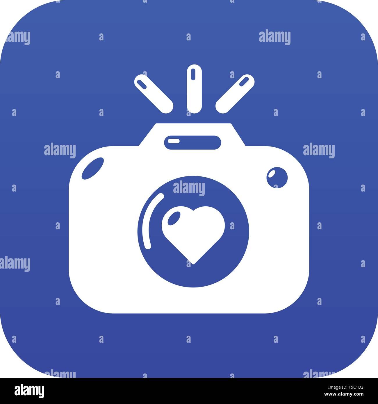 Wedding Photography Icon Blue Vector Stock Vector Image Art Alamy