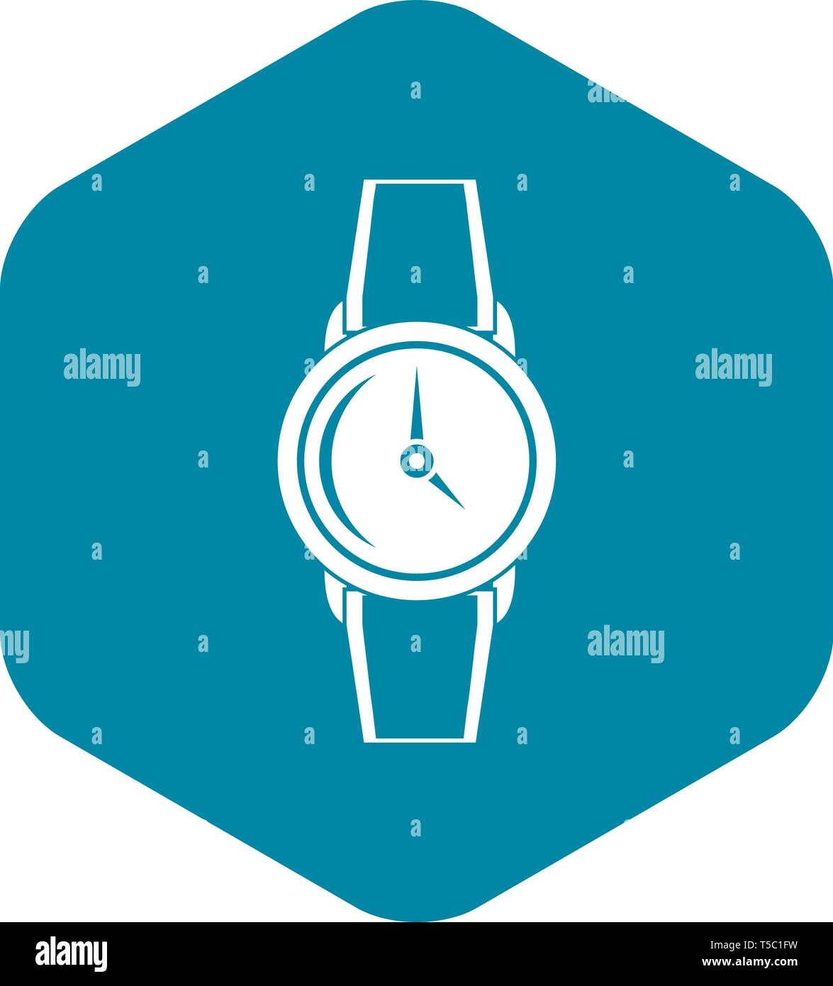 Wristwatch icon, simple style - Stock Image