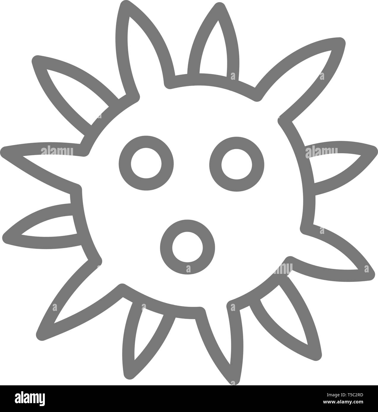 Virus, bacteria line icon. - Stock Image