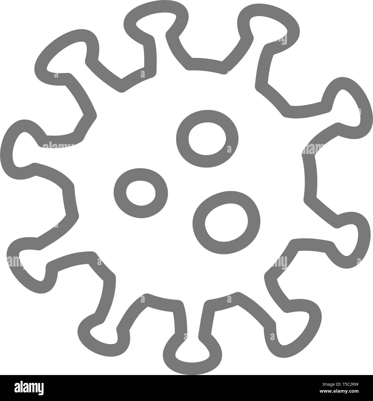 Virus, microbe, bacteria line icon. - Stock Image