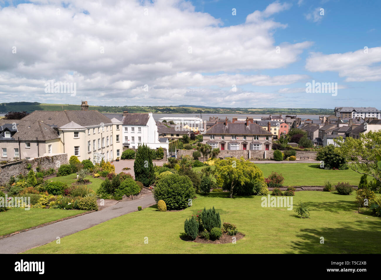 Youghal is a small town in County Cork,picturesquely located along the shore of Youghal Bay. - Stock Image