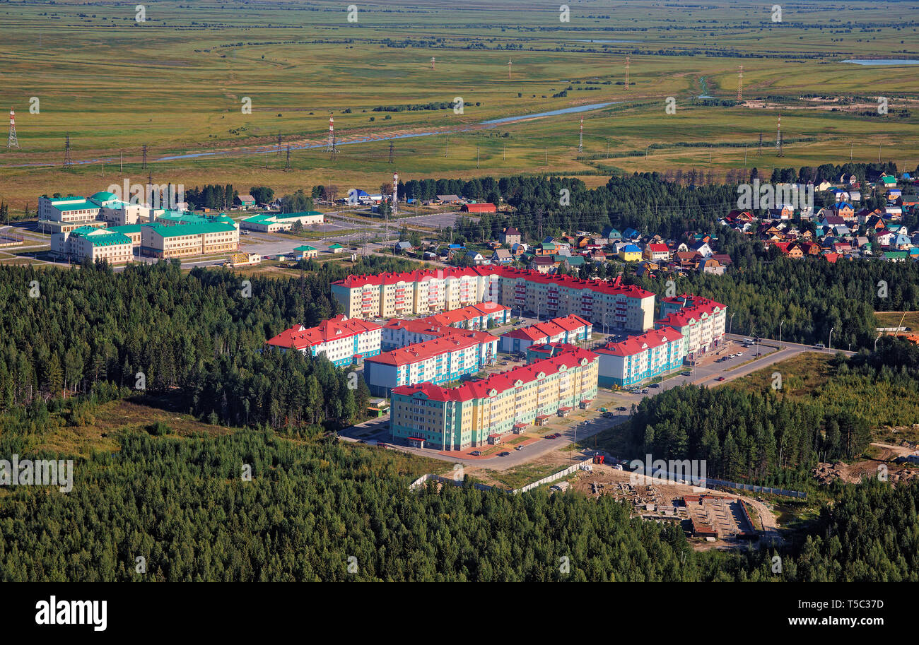 Russia, Khanty-Mansiysk. New modern district built on the outskirts of the city - Stock Image