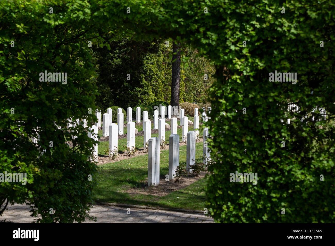 British Military Cemetery Rheindahlen, Moenchengladbach, Germany. - Stock Image