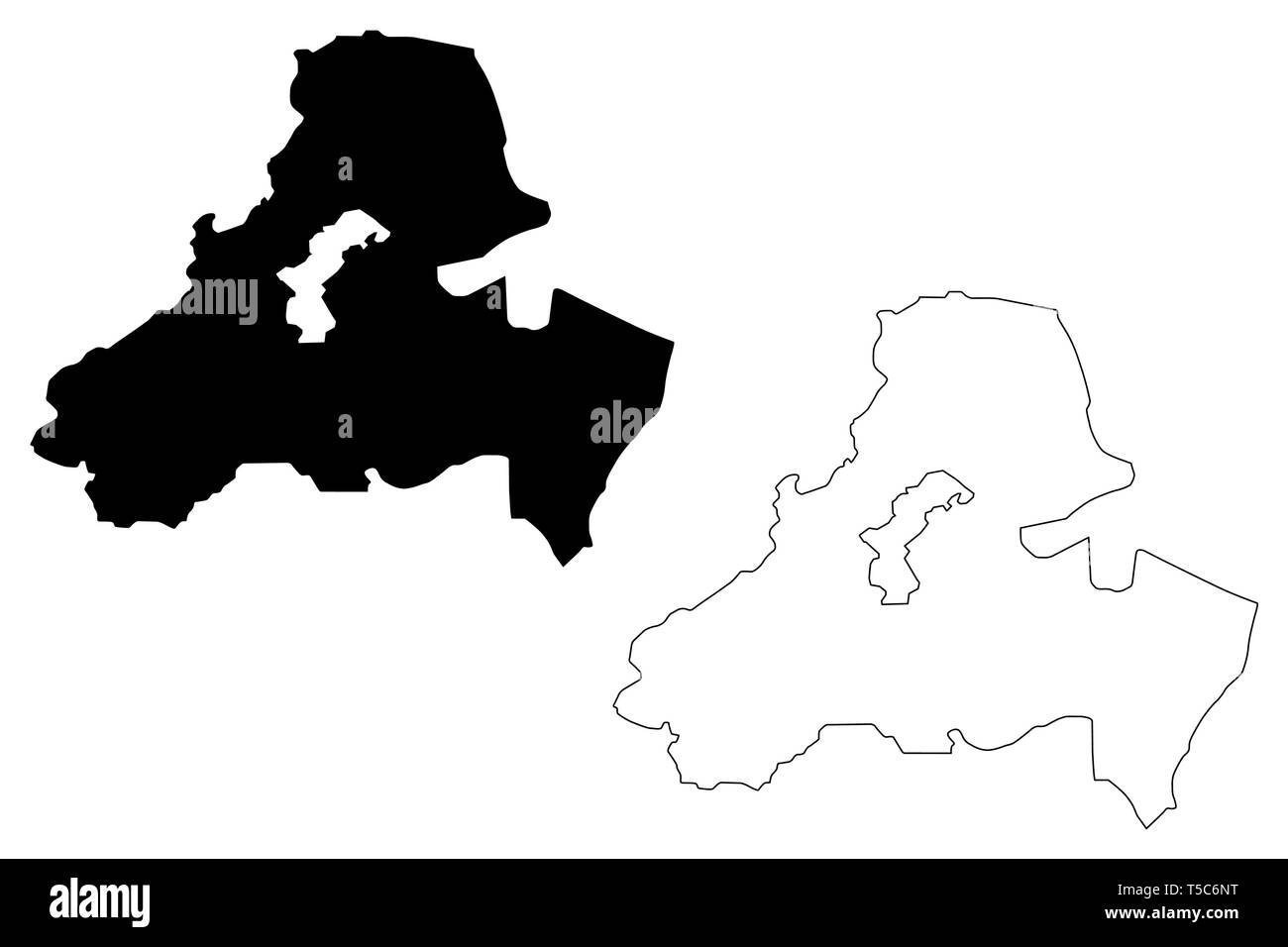 Sanaa Governorate (Governorates of Yemen, Republic of Yemen) map vector illustration, scribble sketch Sana'a  or Sana map - Stock Vector