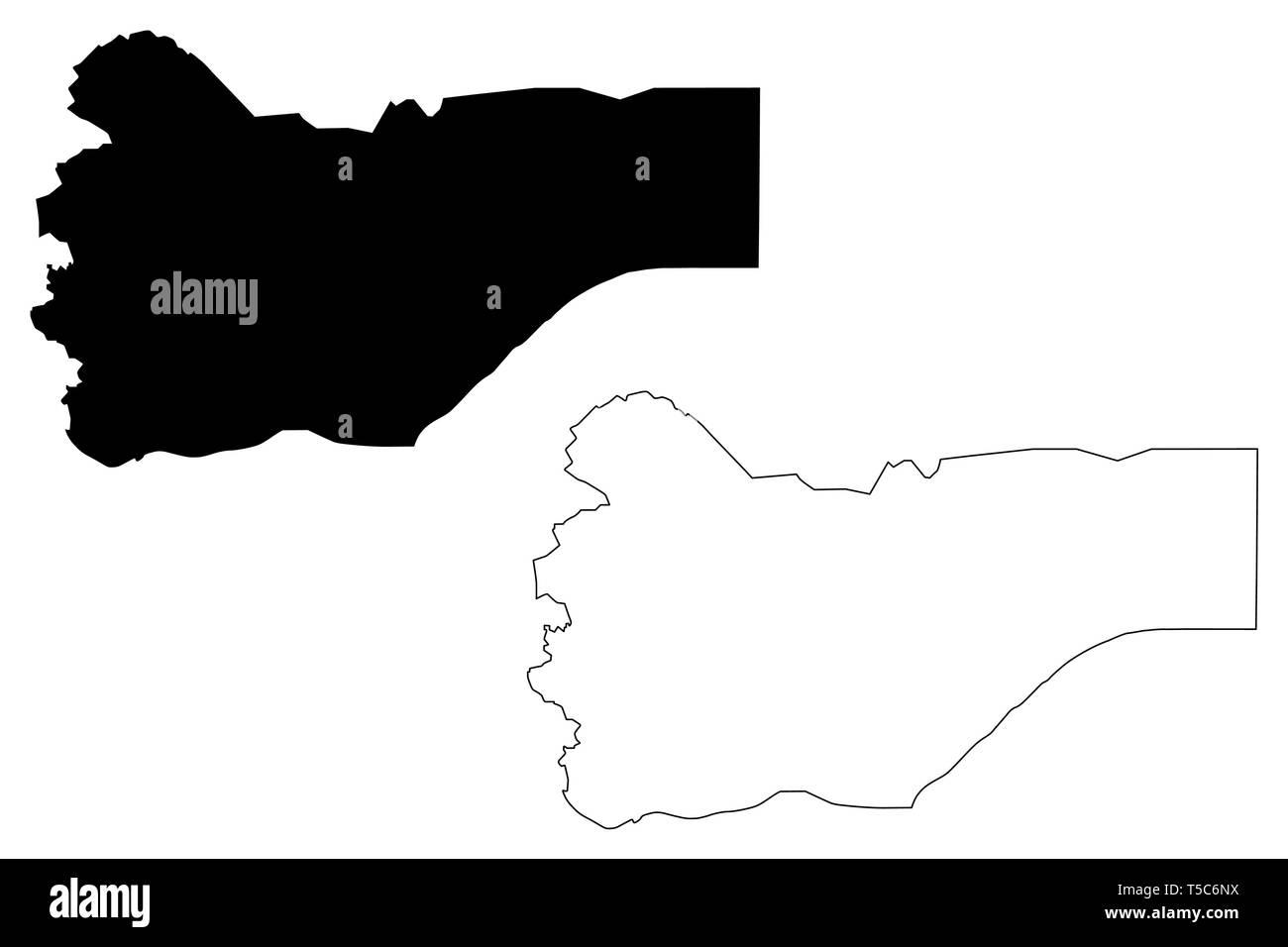 Saada Governorate (Governorates of Yemen, Republic of Yemen) map vector illustration, scribble sketch Sa'dah  or Sana map - Stock Vector