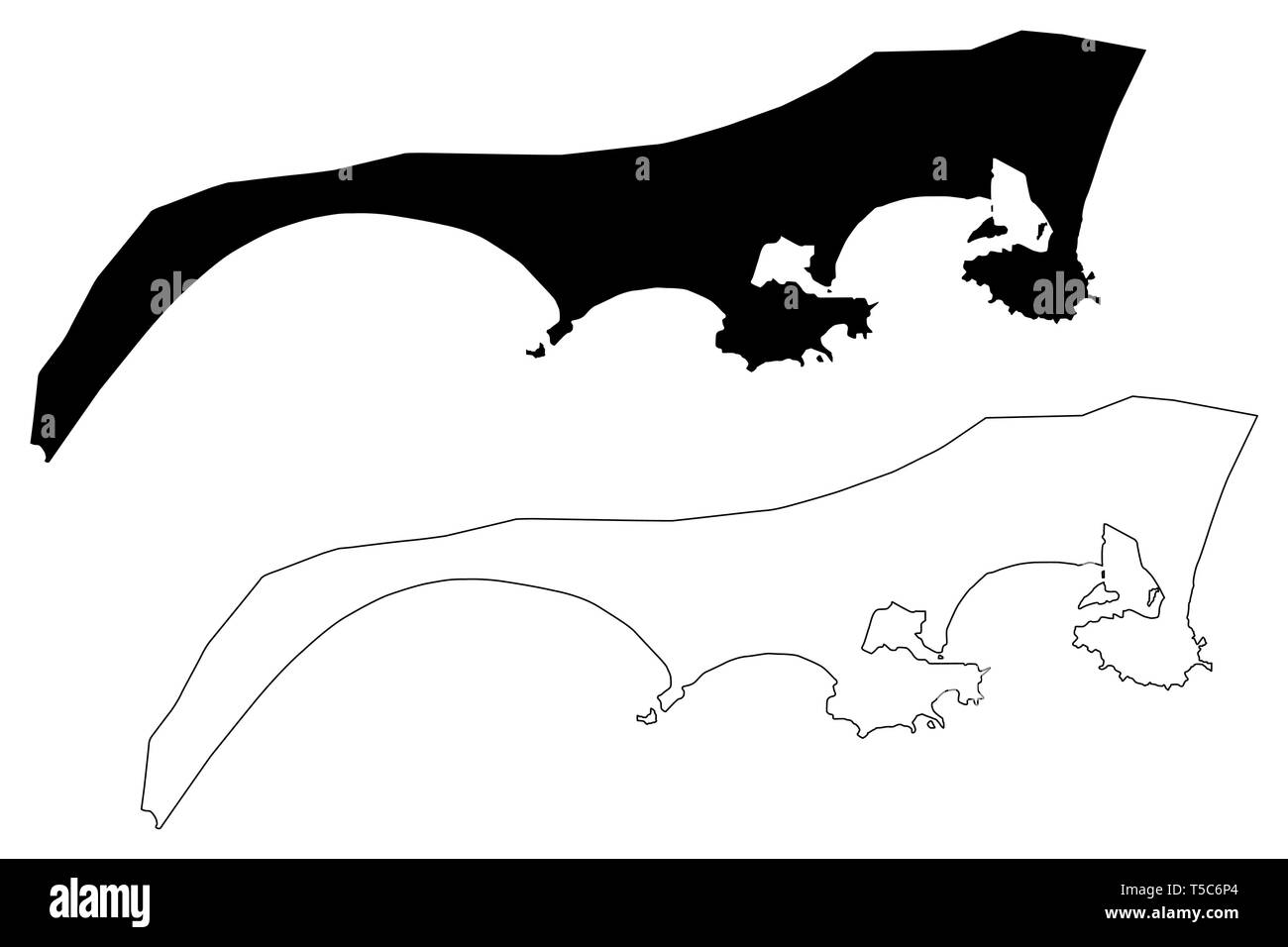 Aden Governorate (Governorates of Yemen, Republic of Yemen) map vector illustration, scribble sketch Aden map - Stock Vector