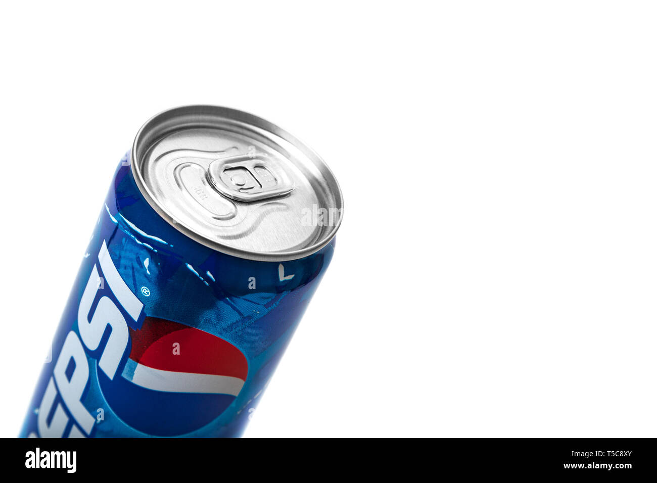 CHISINAU, MOLDOVA - APRIL 21, 2019: Pepsi cola 2000s soft drink