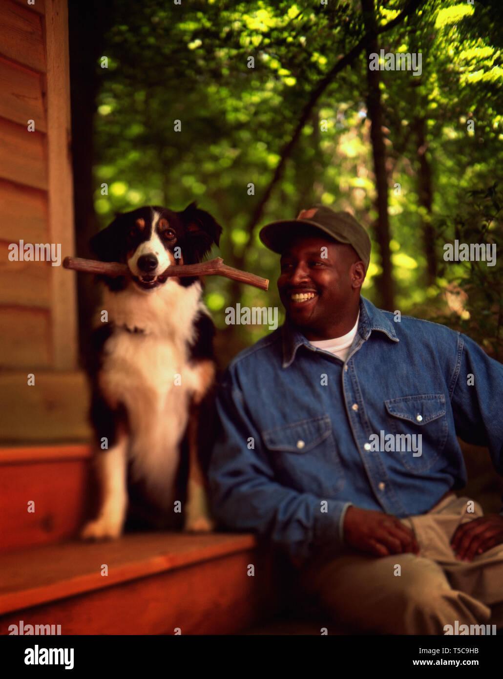 a mans best friend - Stock Image
