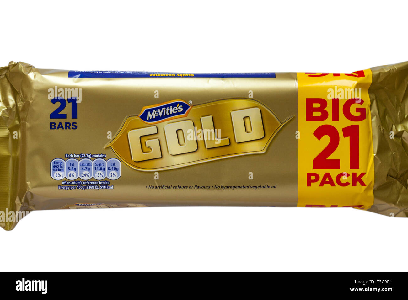 Packet Of Mcvities Gold Biscuits Biscuit Bars Big 21 Pack