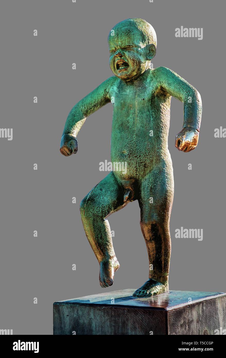 The sculptures of Gustav Vigeland: Angry Boy (Sinnataggen) - Stock Image