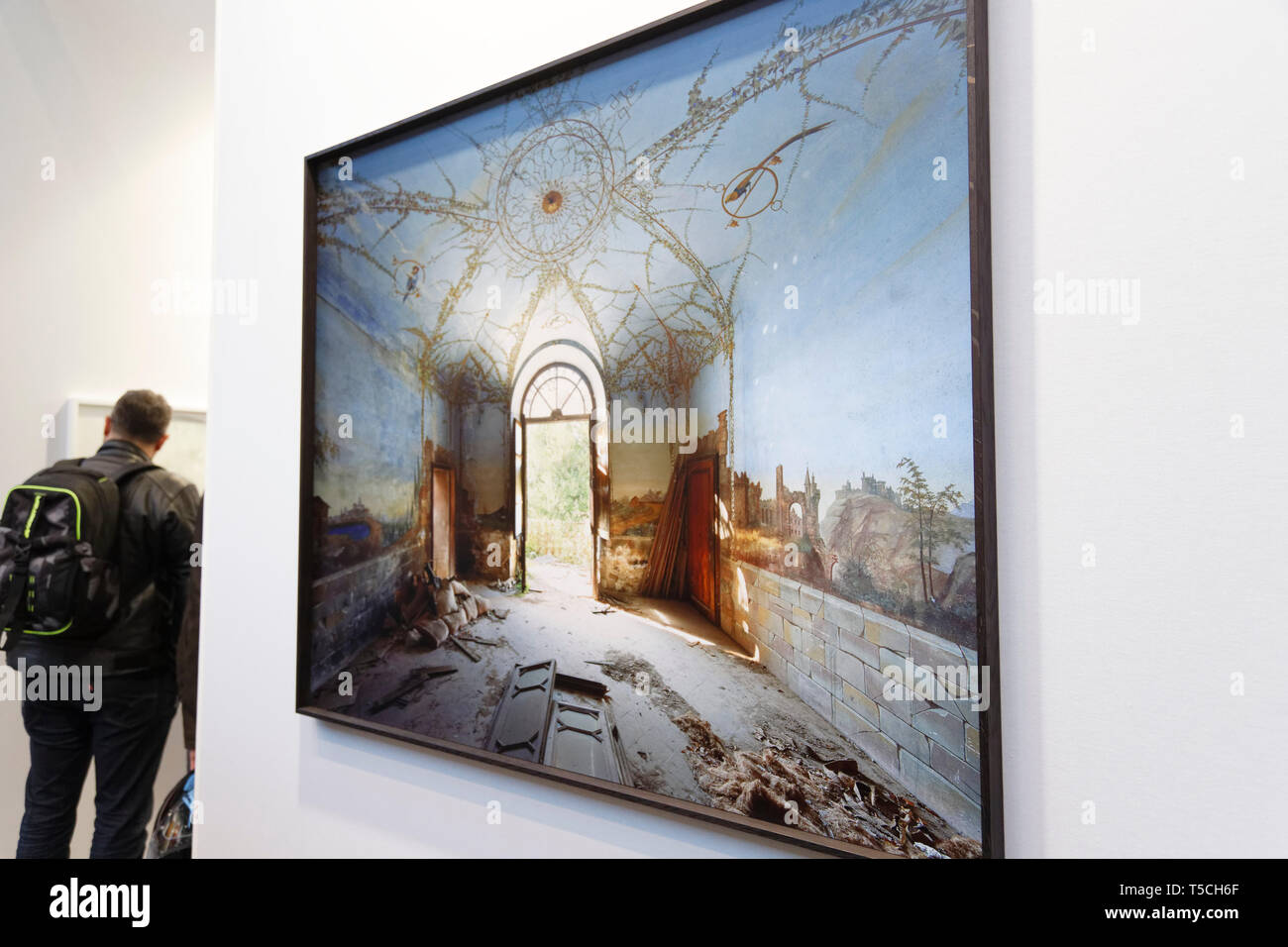 Paris, France. 3th April, 2019. Thomas Jorion exibited at Paris Art Fair, Paris, 2019, France. Credit: Veronique Phitoussi/Alamy Stock Photo Stock Photo